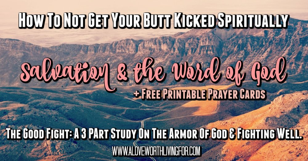 Okay you're saved. Now What? How can your salvation help you fight your daily battles? & how can you arm yourself with peace? Check out this 3 part study on the armor of God & fighting well!