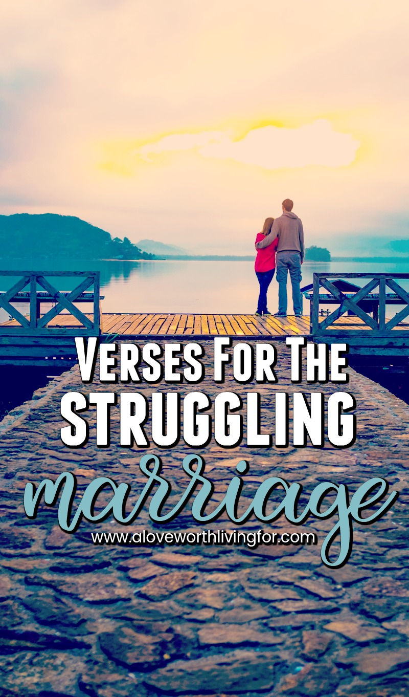 We spend our adolescence and young adult years dreaming up our weddings and fantasizing about finding a person to spend forever with. Marriage is amazing but it is not as easy as we tend to dream it will be. These verses offer help and hope to those who are struggling in their marriages.