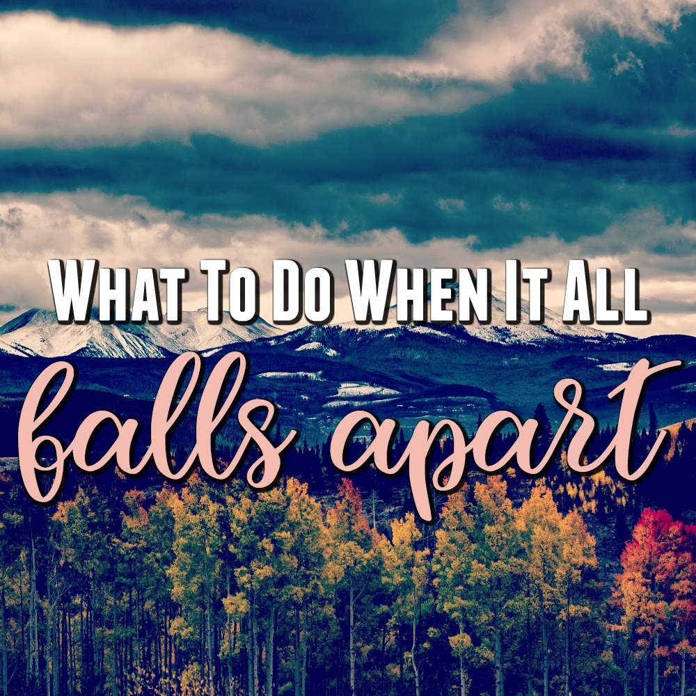 What do you do when everything falls apart? Where do you turn when life is hard? The Good News is that even if everything crumbles, there is One who will hold you together. You can get through this and here is how.