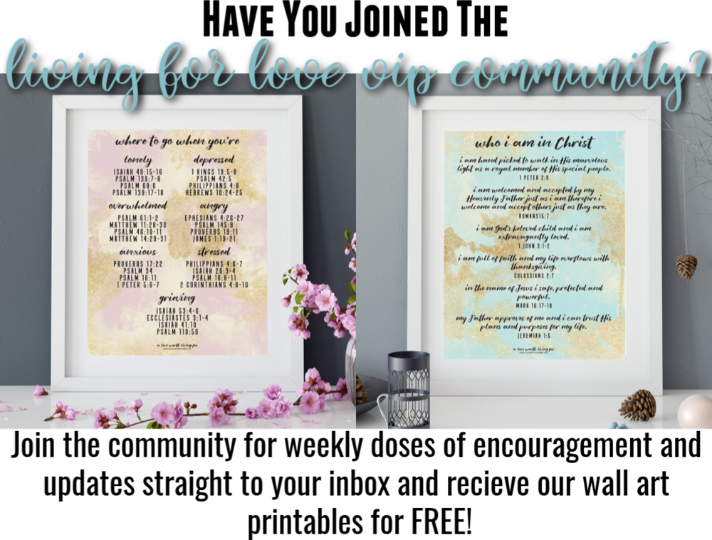 These printables are so much more than pretty. They are also a fun and perfect way to keep scripture in front of you. These gorgeous bible verse wall art prints are designed to remind you who you are in Christ and where to turn for hope and encouragement when life get's tough. Click through to get yours now!