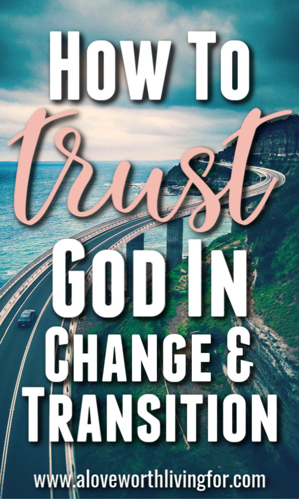 Ever wonder how you can trust God in times of change and transition? Well it starts with getting to know Him more in general. The key to trusting God is building a history with Him and here is how.