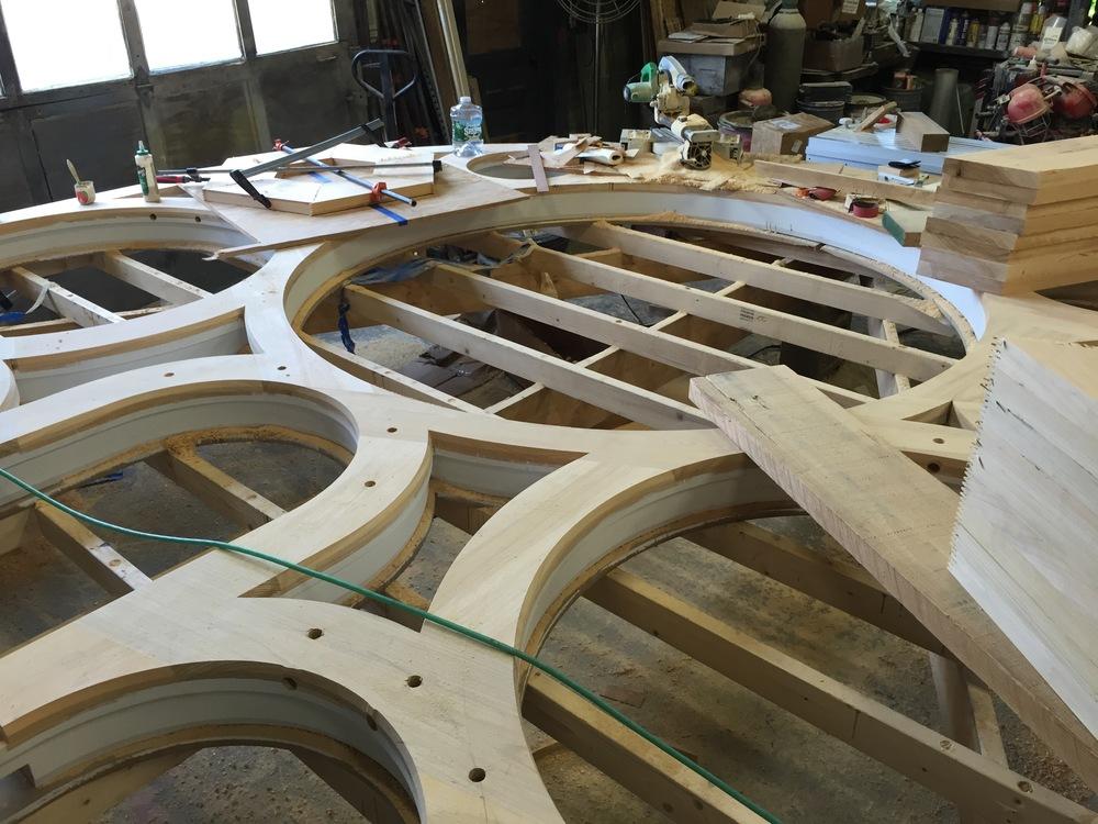 First Presbyterian, Hudson, NY - New frame fabrication