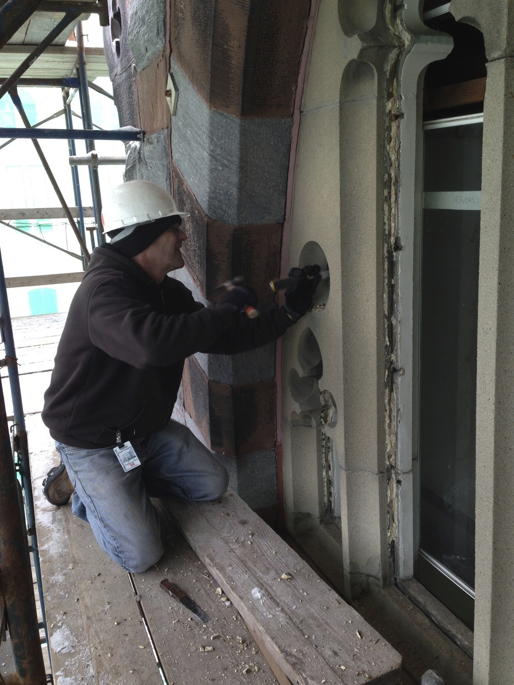 Pittsfield Courthouse - Tracery Removal