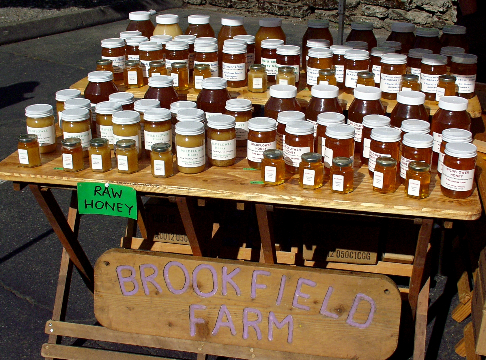 Wildflower honey from Brookfield Farm. Photo copyright 2009 by Zachary D. Lyons.