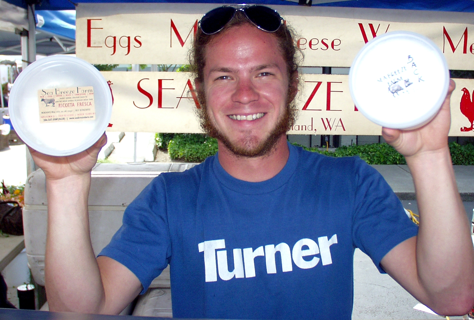 Visit John at Sea Breeze Farm's refer case to see why he's smiling. Photo copyright 2009 by Zachary D. Lyons.