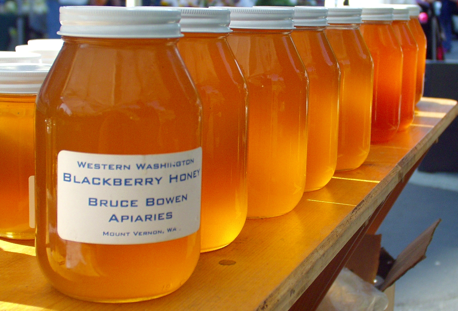 Honey from Brookfield Farm. Photo copyright 2009 by Zachary D. Lyons.