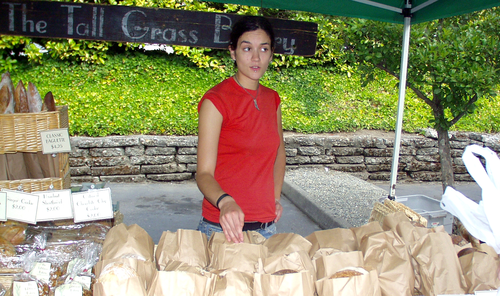 Crystal, from Tall Grass Bakery, answers your bready questions. Photo copyright 2009 by Zachary D. Lyons.