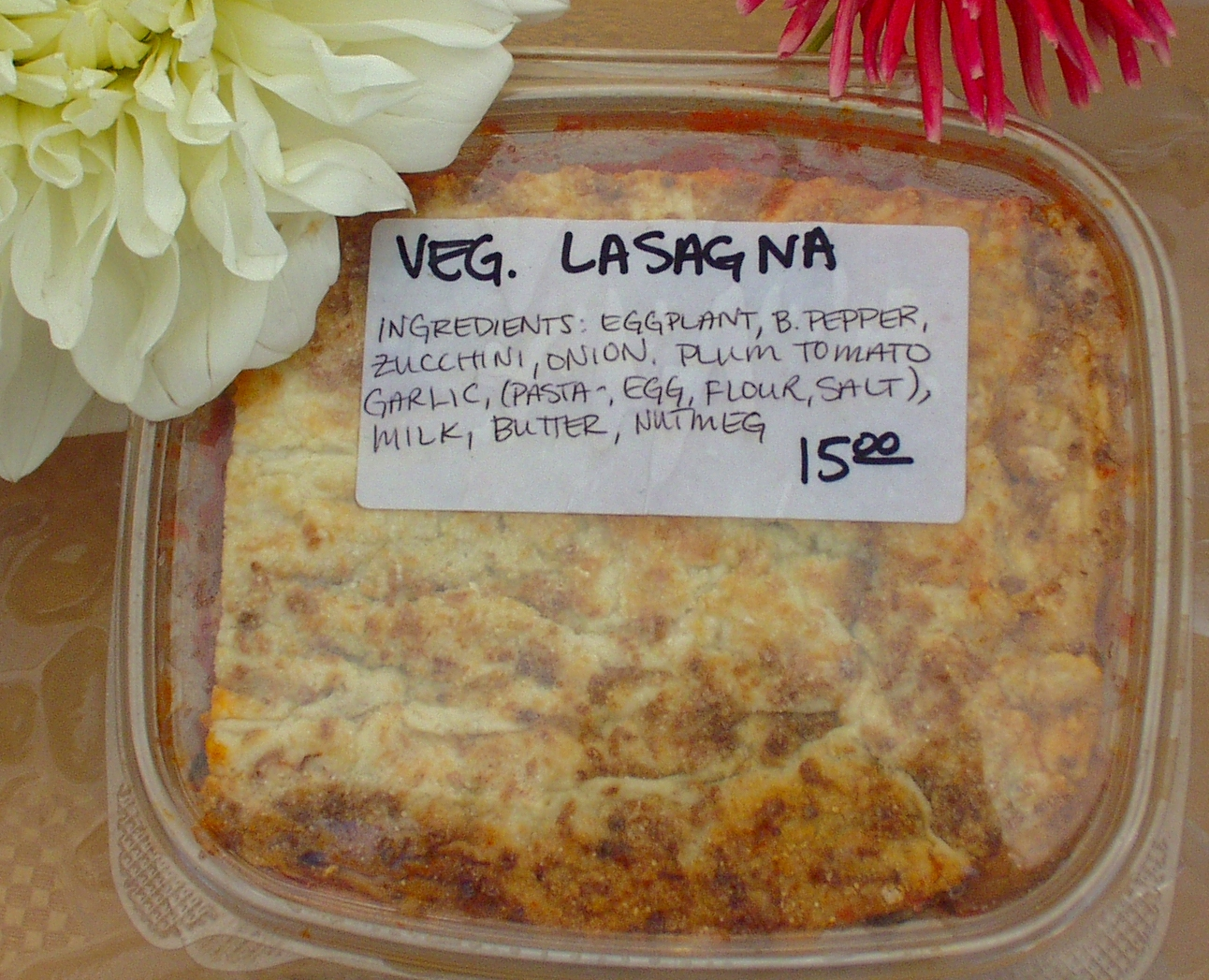 Vegetarian lasagna from Pasteria Lucchese. Photo copyright 2009 by Zachary D. Lyons.
