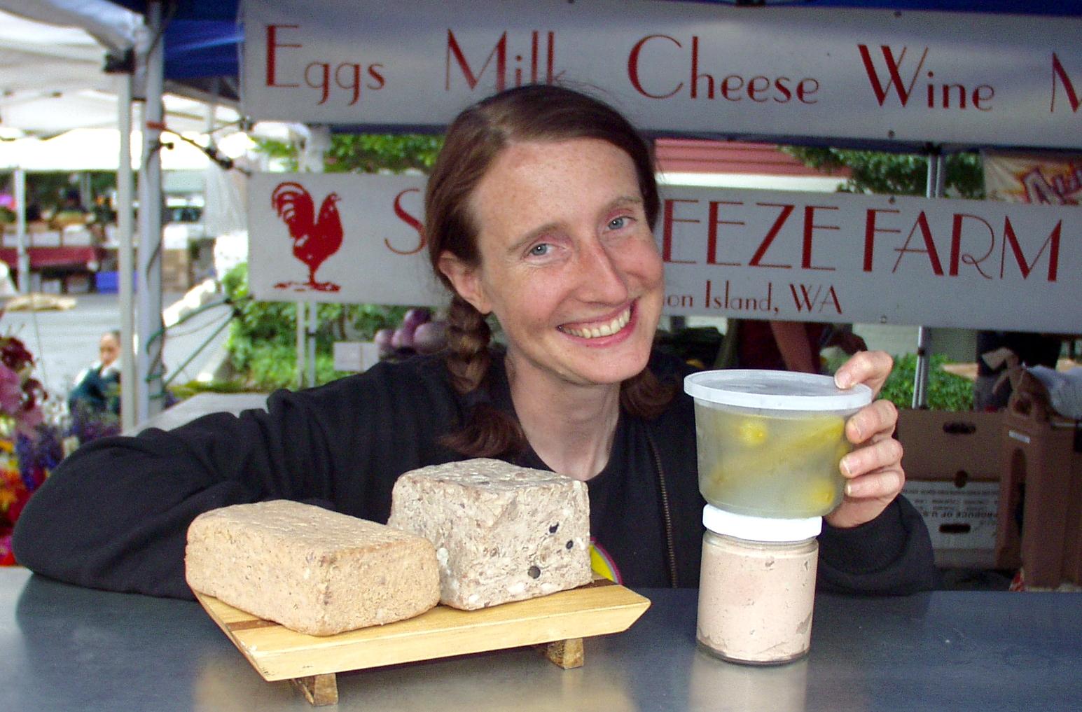 Chef Leah Gerrard of Sea Breeze Farm's restaurant, La Boucherie. Photo copyright 2009 by Zachary D. Lyons.