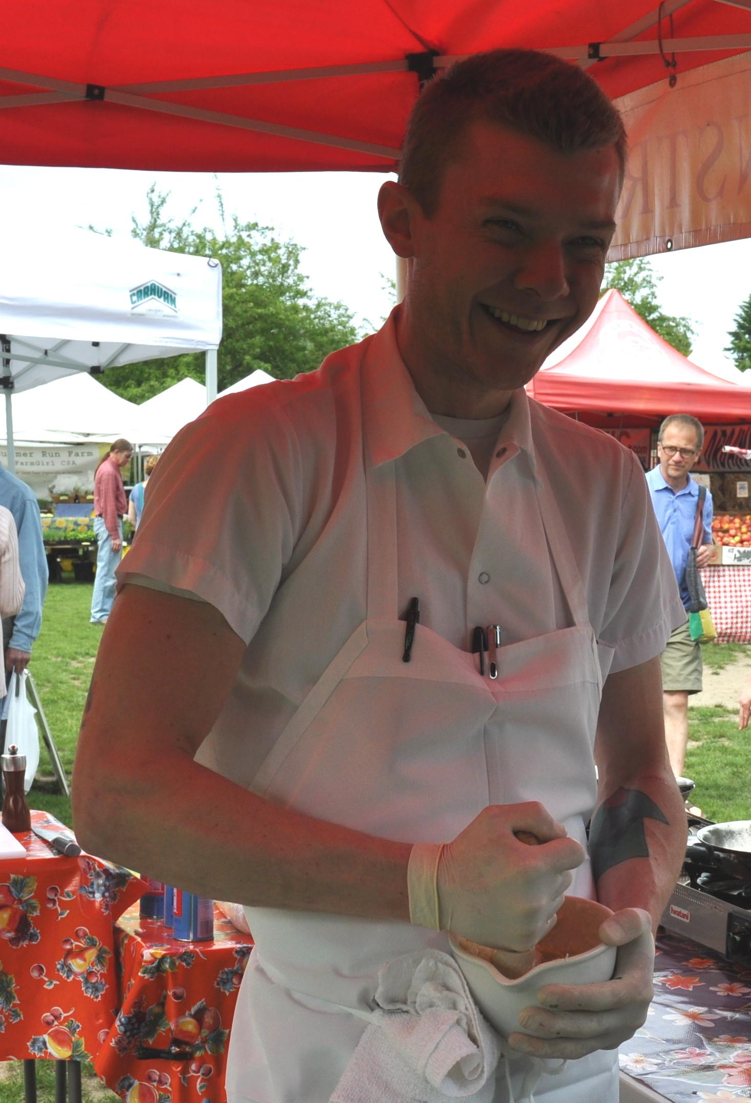 Chef Jason Brzozowy of Tilth Restaurant. Photo copyright 2013 by Zachary D. Lyons.