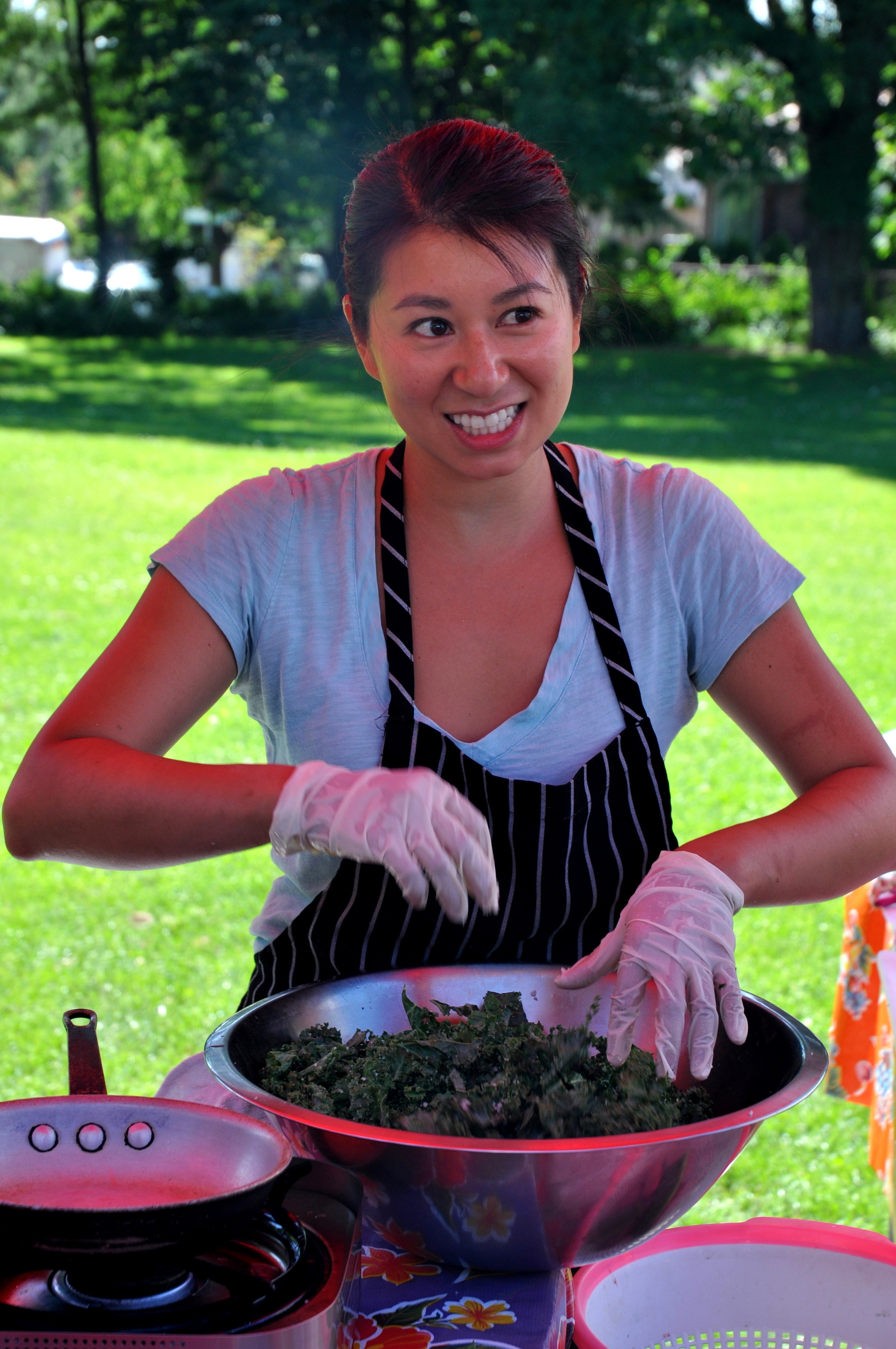 Chef Michelle Nguyen from Joule performing a cooking demonstration. Photo copyright 2012 by Zachary D. Lyons.