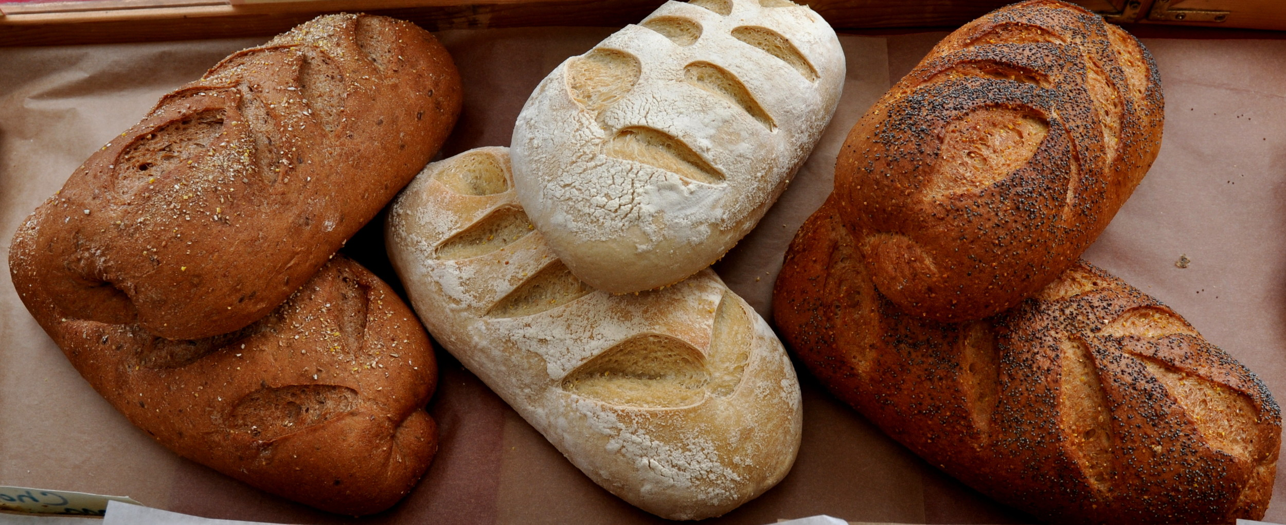 Artisan loaves of bread from Grateful Bread Bakery. Photo copyright 2013 by Zachary D. Lyons.