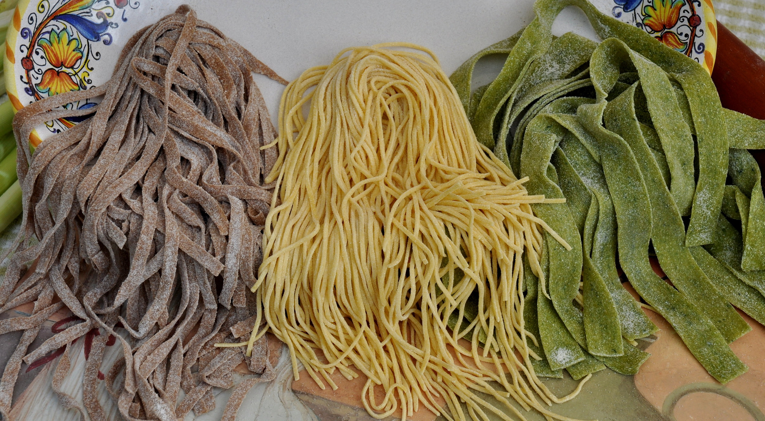 Fresh pastas from La Pasta. Photo copyright 2013 by Zachary D. Lyons.
