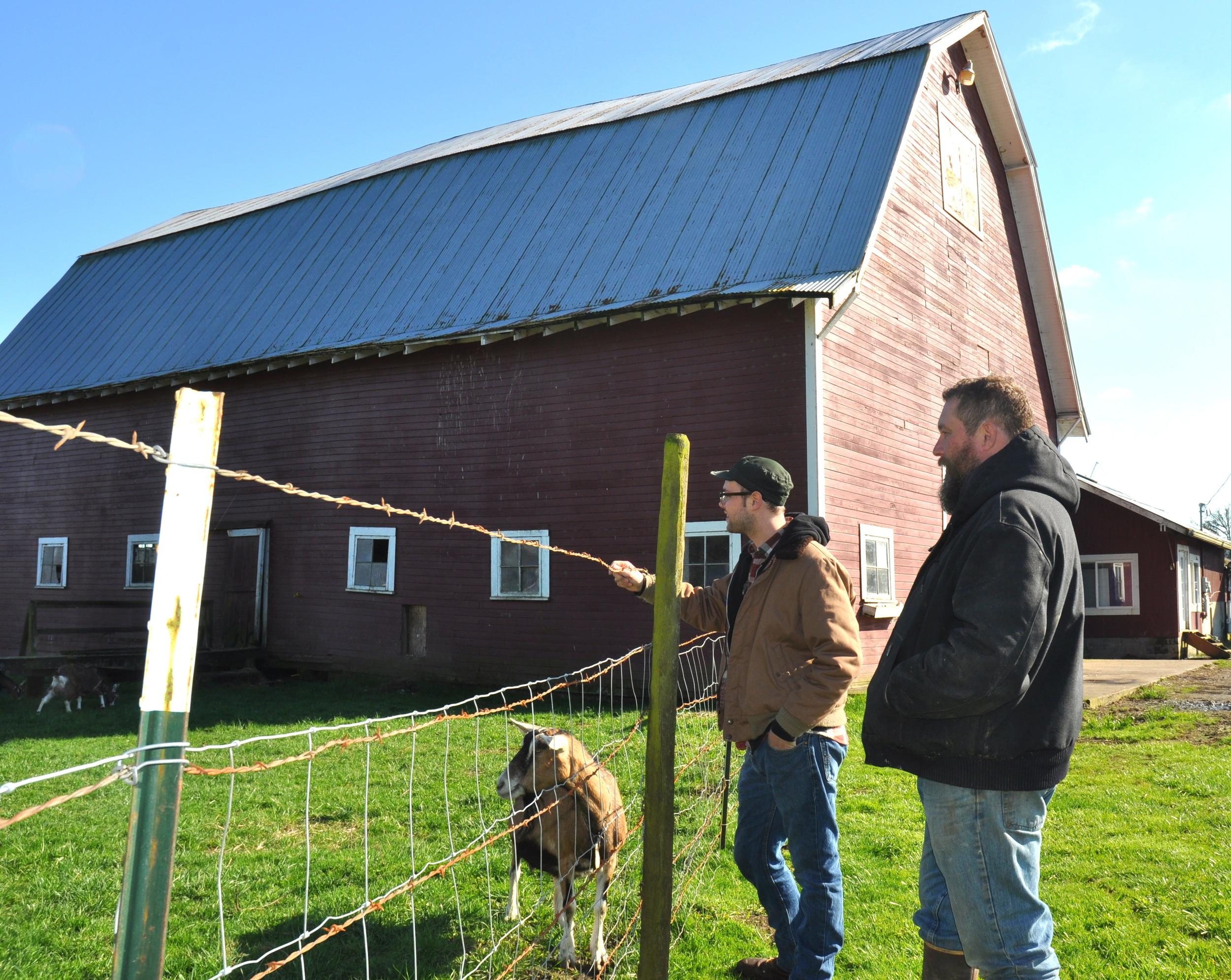 The historic barn at Twin Oaks Creamery in Chehalis. Photo copyright 2013 by Zachary D. Lyons.