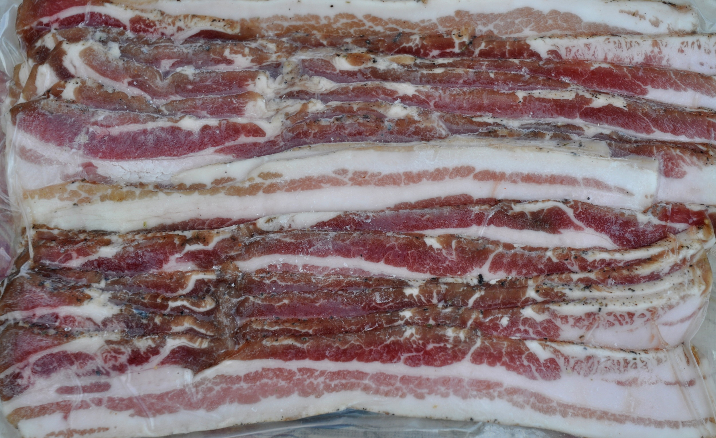 Bacon from Sky Valley Family Farm. Photo copyright 2013 by Zachary D. Lyons.