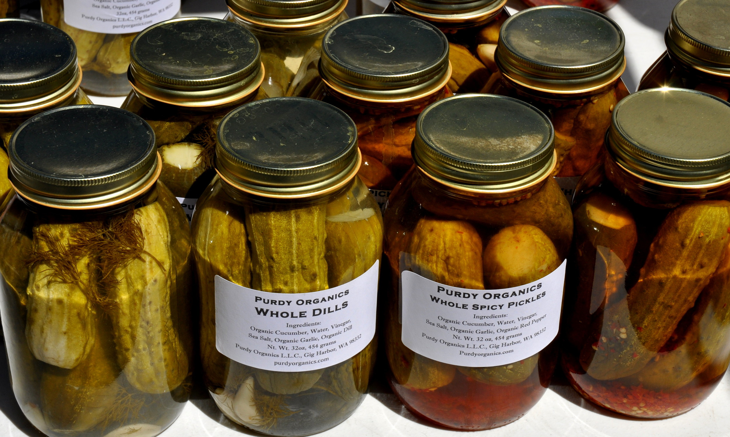 Dill pickles from Purdy Pickle. Photo copyright 2013 by Zachary D. Lyons.