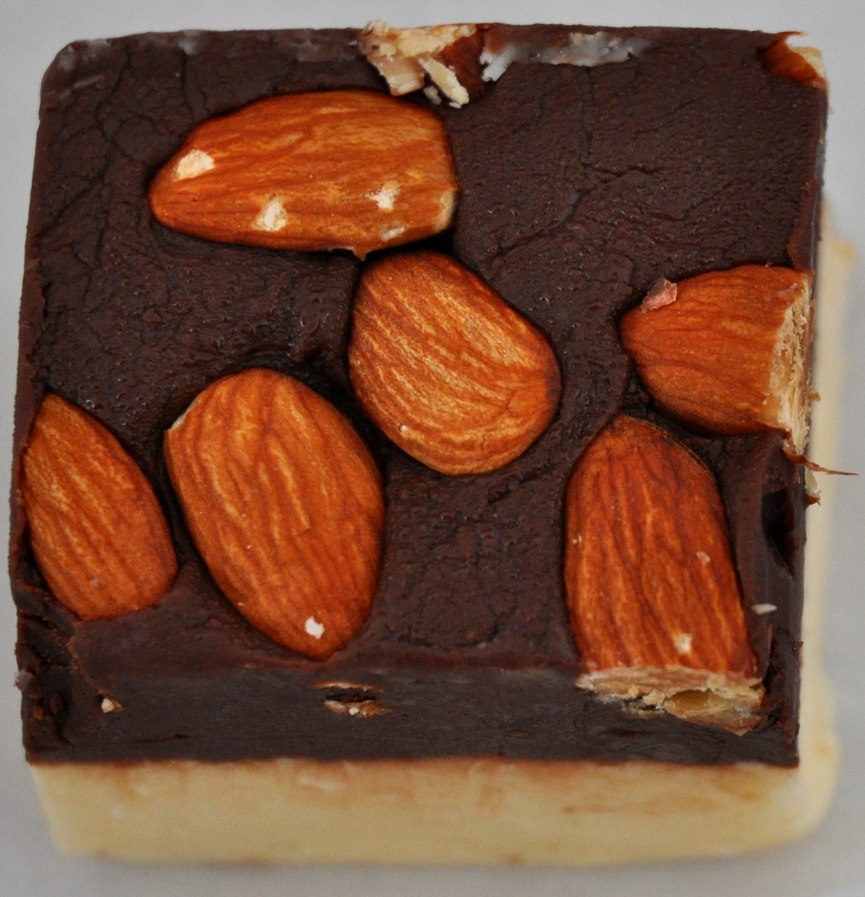 Chocolate-coconut fudge with almonds from Pete's Perfect Toffee. Photo copyright 2013 by Zachary D. Lyons.
