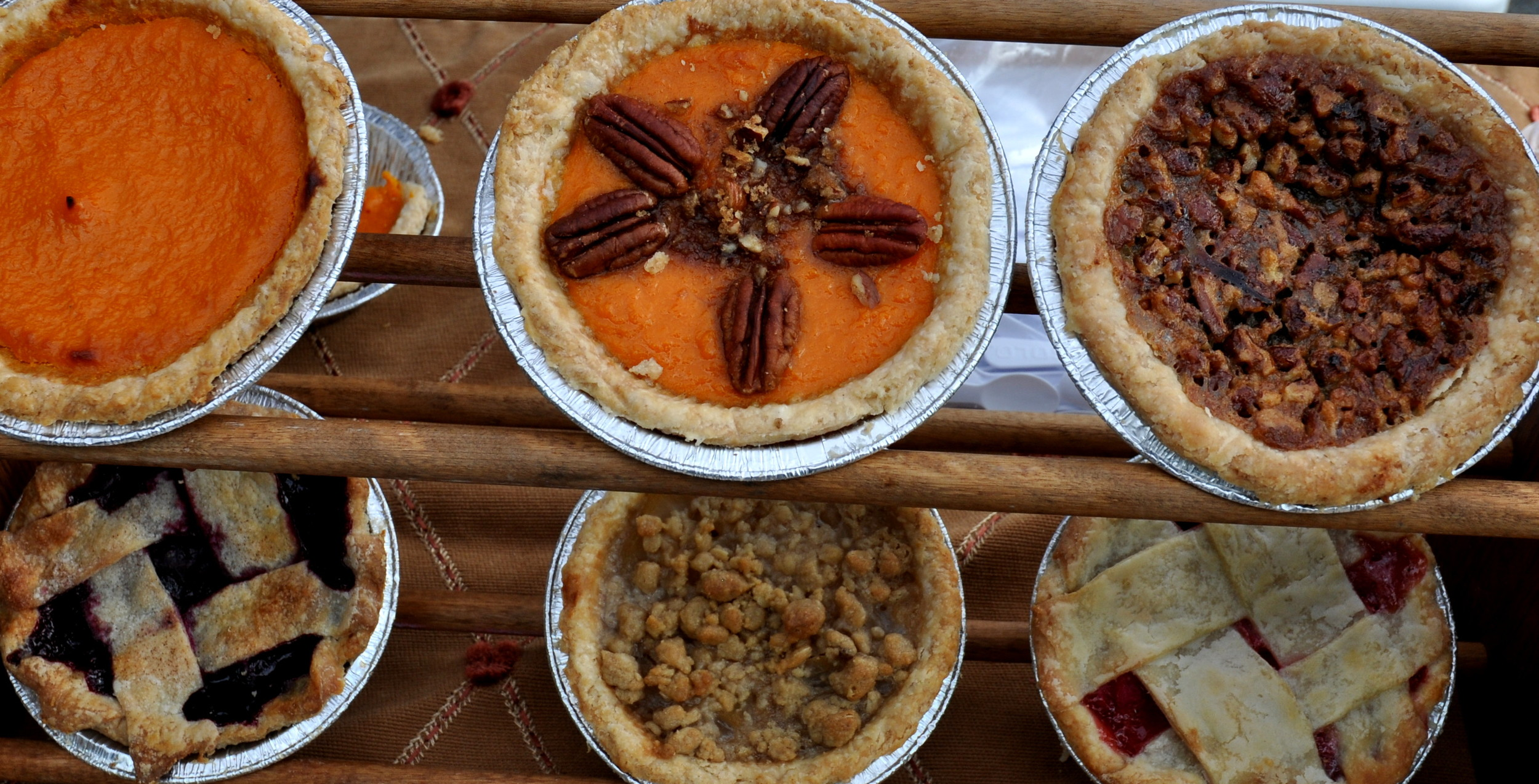 Pies from Simply Soulful.. Photo copyright 2014 by Zachary D. Lyons.