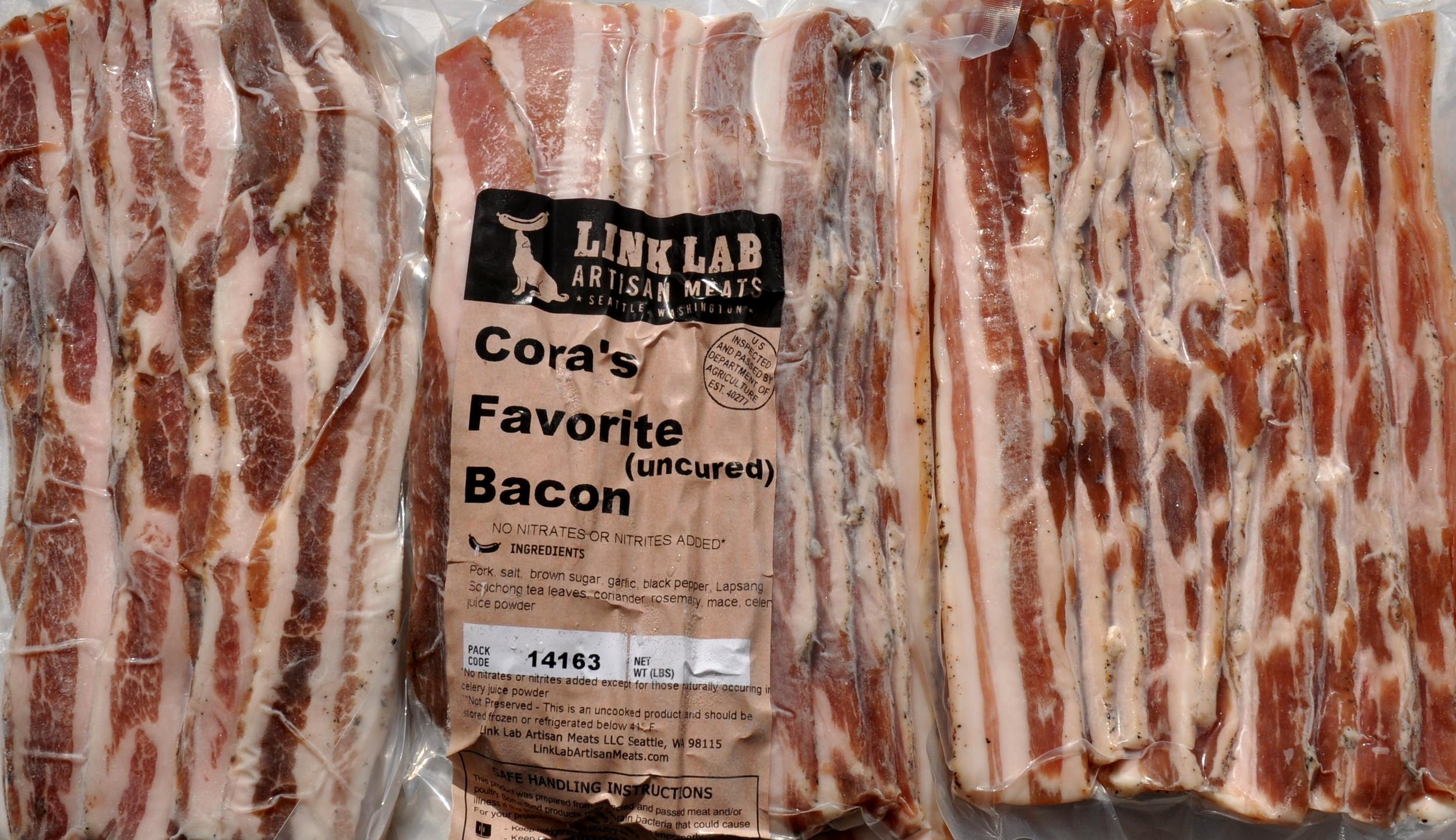 Spiced bacon from Sky Valley Family Farm. Photo copyright 2014 by Zachary D. Lyons.