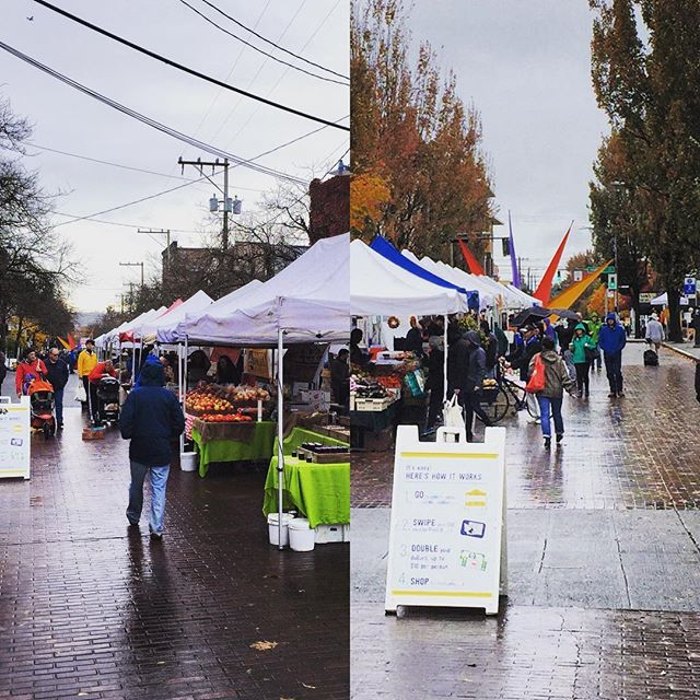 No room for gloom. #rainraingoaway #sfmamarkets #ballardfarmersmarket #pnwweather