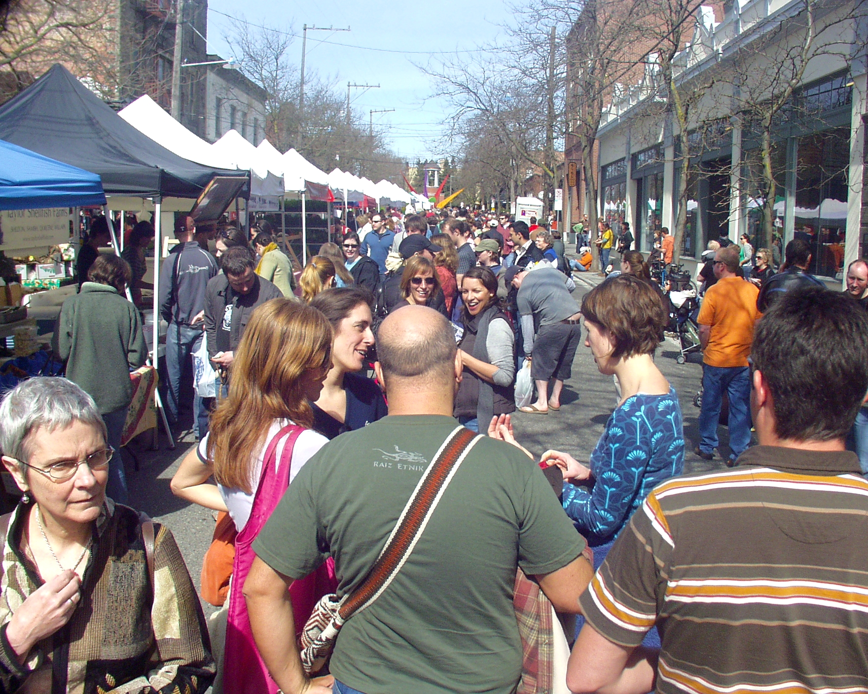 Ballardites crowded the Market by the thousands to welcome, finally, spring. Photo copyright 2009 by Zachary D. Lyons.