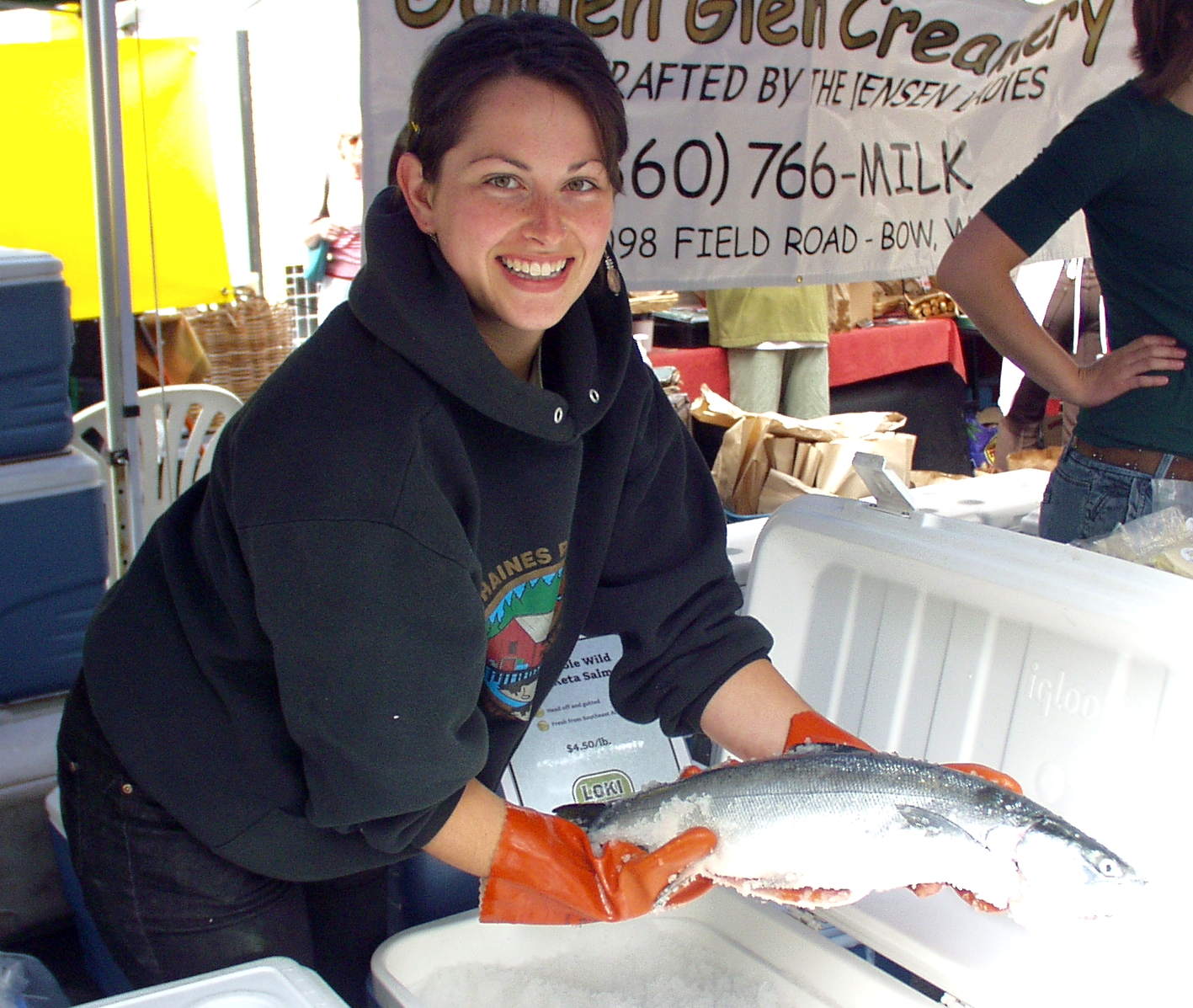 Fresh whole keta salmon from Loki Farm. Photo copyright 2009 by Zachary D. Lyons.