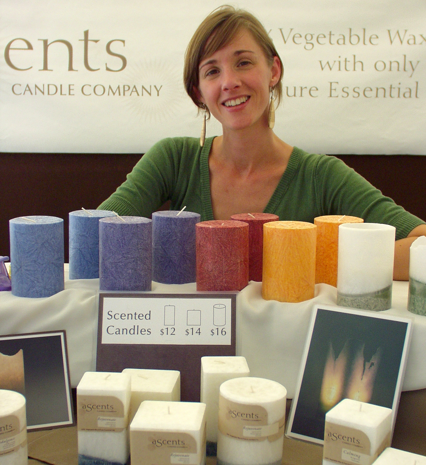 Julianna from Ascents Candles. Photo copyright 2009 by Zachary D. Lyons.