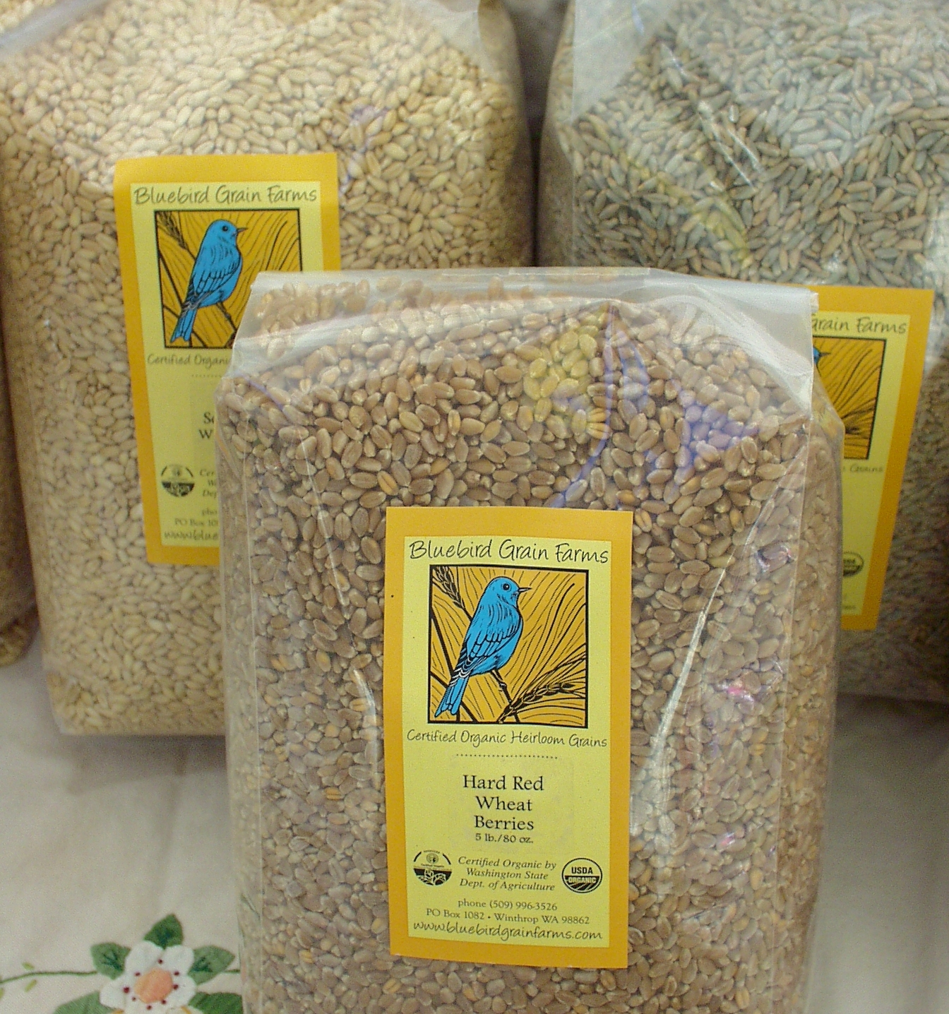 Whole grains from Bluebird Grain Farms. Photo copyright 2009 by Zachary D. Lyons.