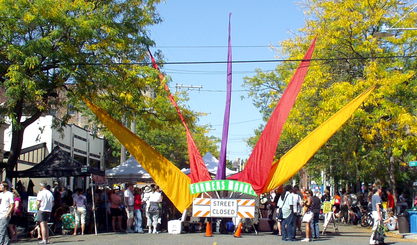 A look of fall fills the air at Ballard Farmers Market. Photo copyright 2009 by Zachary D. Lyons.