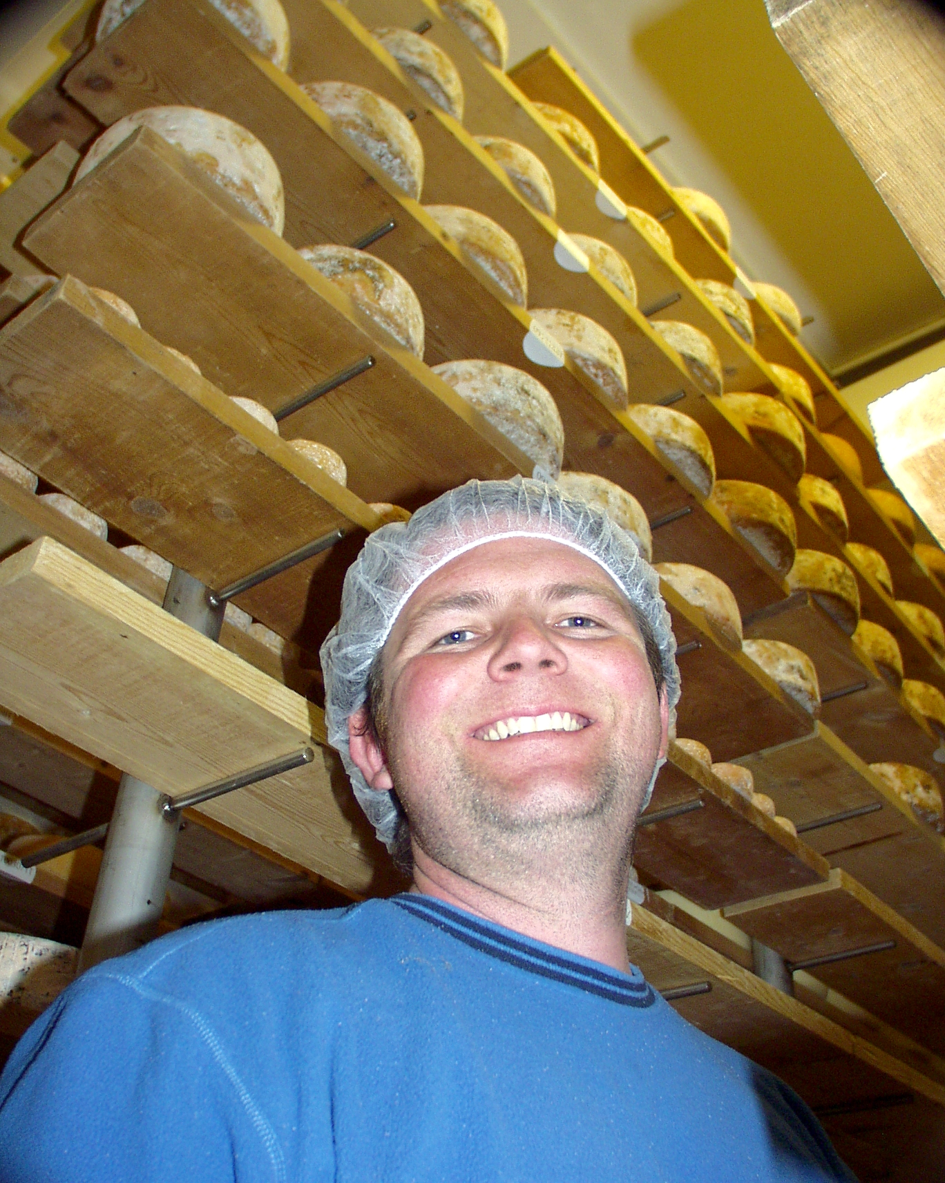Cheese maker Matthew Day from Mt. Townsend Creamery in one of his four cheese caves in Port Townsend. Photo copyright 2010 by Zachary D. Lyons.