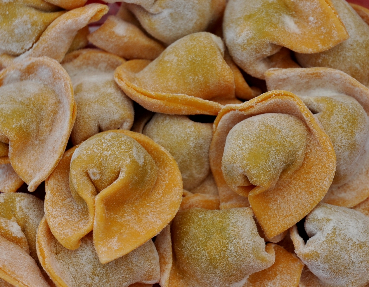 Carrot-Spinach cappellacci from Pasteria Lucchese. Photo copyright 2010 by Zachary D. Lyons.