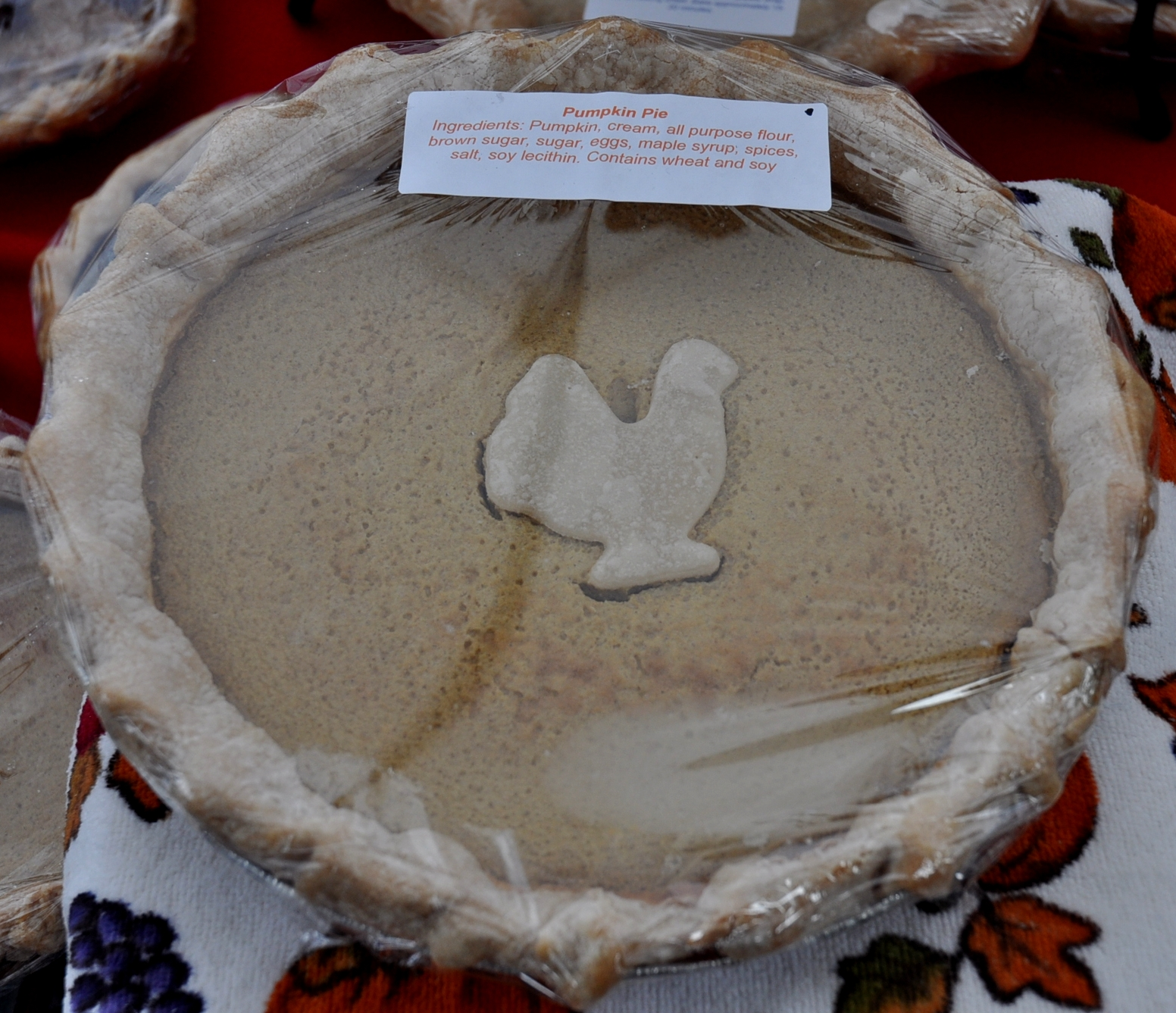 Thanksgiving pumpkin pie from Deborah's Homemade Pies at Ballard Farmers Market. Copyright Zachary D. Lyons.