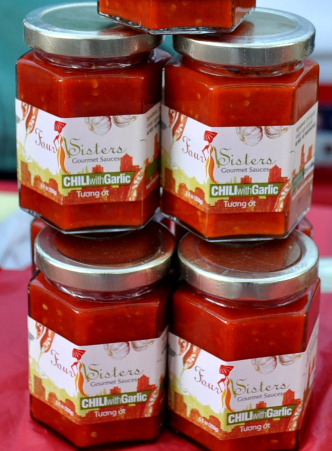 Chili sauce with garlic from Four Sisters. Photo copyright 2010 by Zachary D. Lyons.