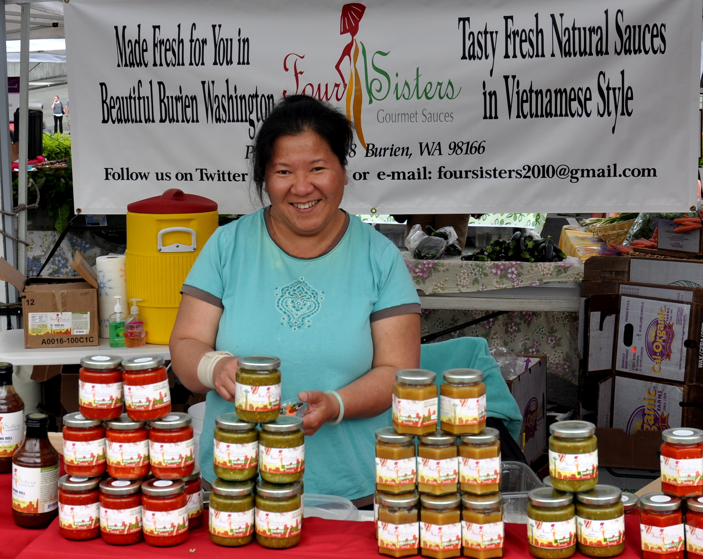 Julie from Four Sisters Chili Sauce. Photo copyright 2011 by Zachary D. Lyons.