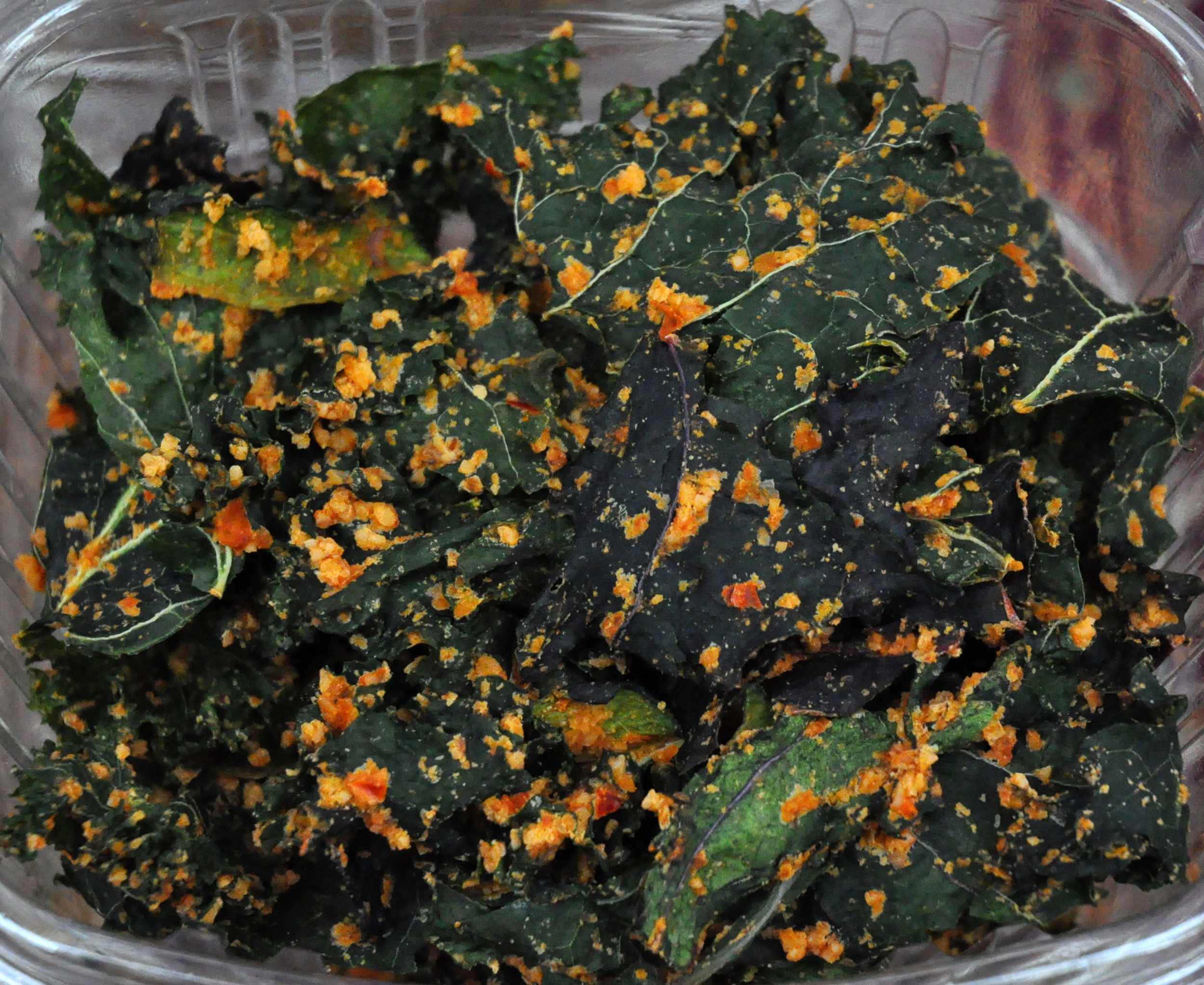 Kale, zucchini & collard chips from House of the Sun at Ballard Farmers Market. Copyright Zachary D. Lyons.