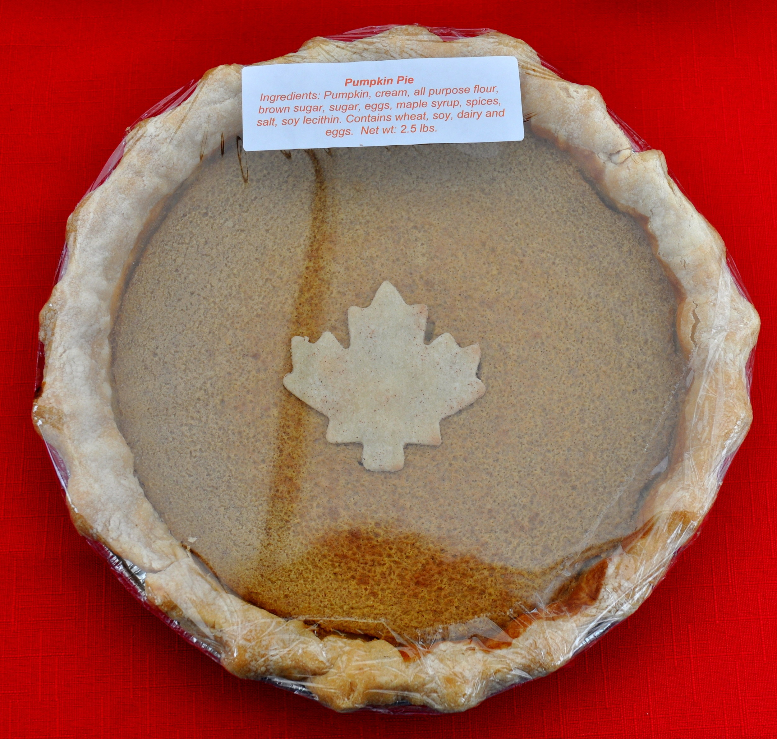 Pumpkin Pie from Deborah's Homemade Pies. Photo copyright 2012 by Zachary D. Lyons.