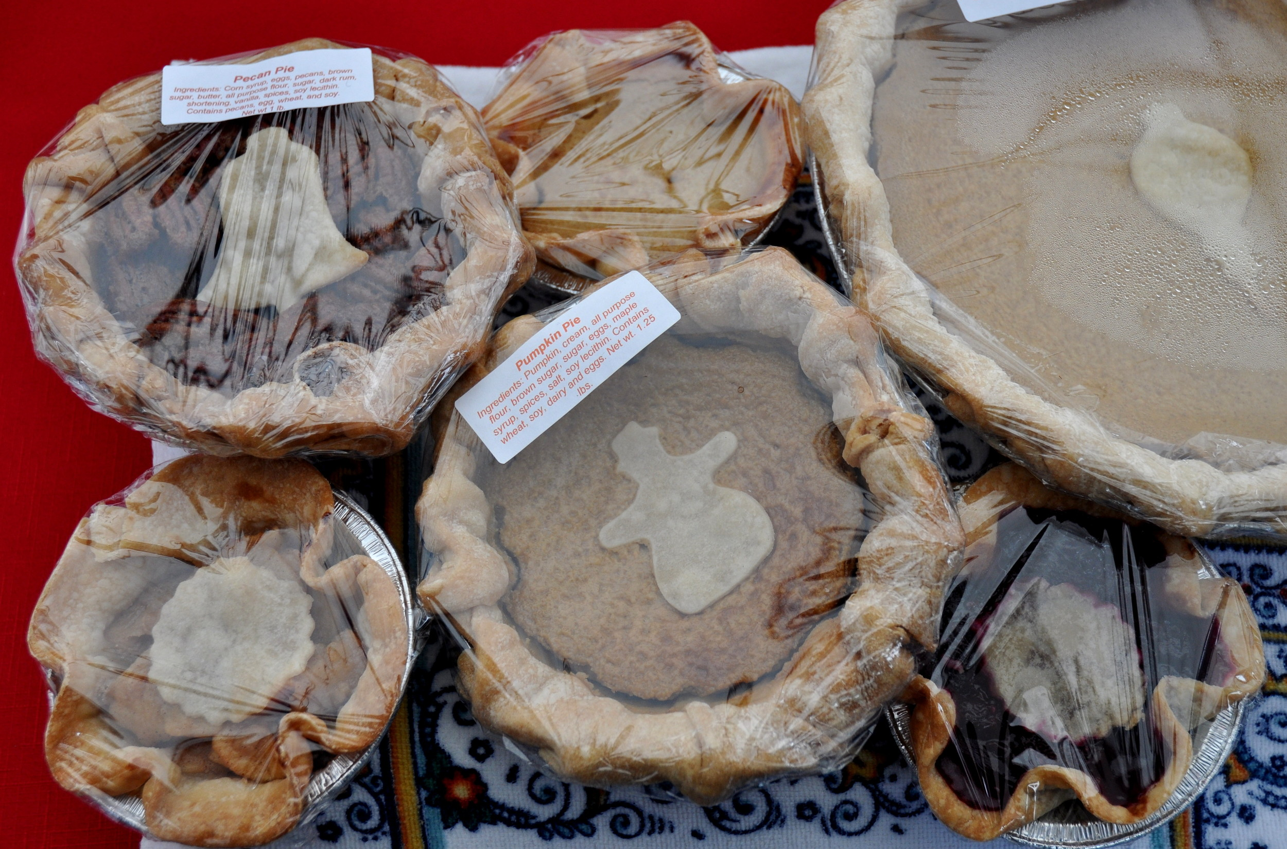 Holiday pies from Deborah's Homemade Pies. Photo copyright 2012 by Zachary D. Lyons.