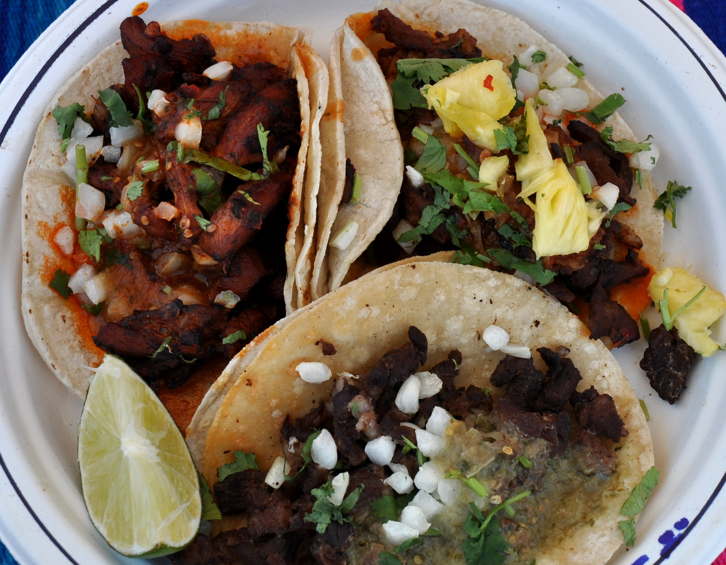 Tacos from Los Chilangos. Photo copyright 2011 by Zachary D. Lyons.