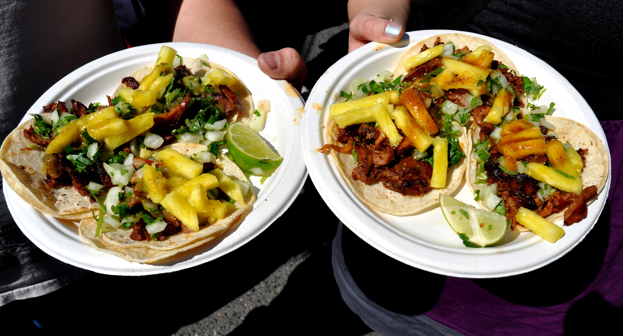 Tacos from Los Chilangos. Photo copyright 2013 by Zachary D. Lyons.