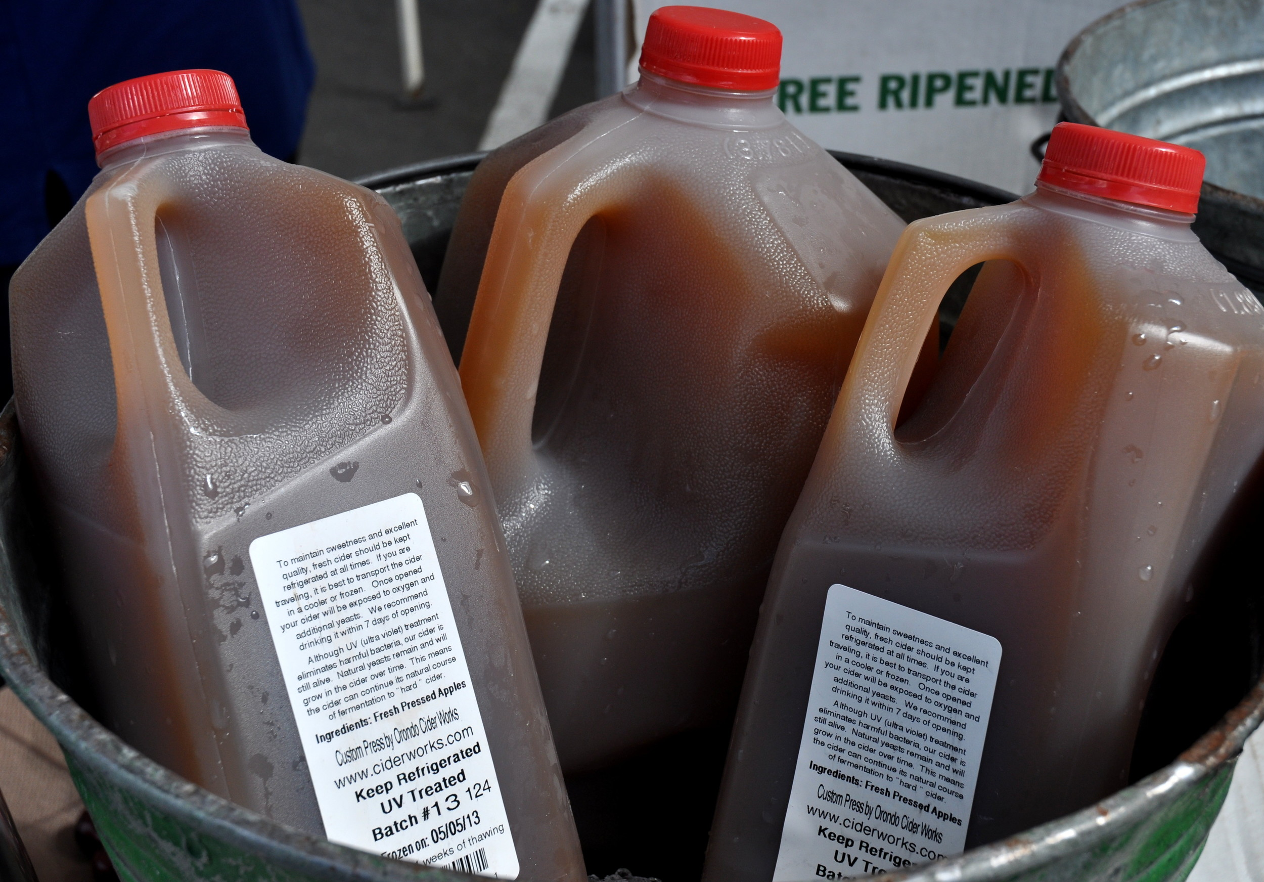 Last-of-the-season fresh apple cider from Martin Family Orchards. Photo copyright 2013 by Zachary D. Lyons.