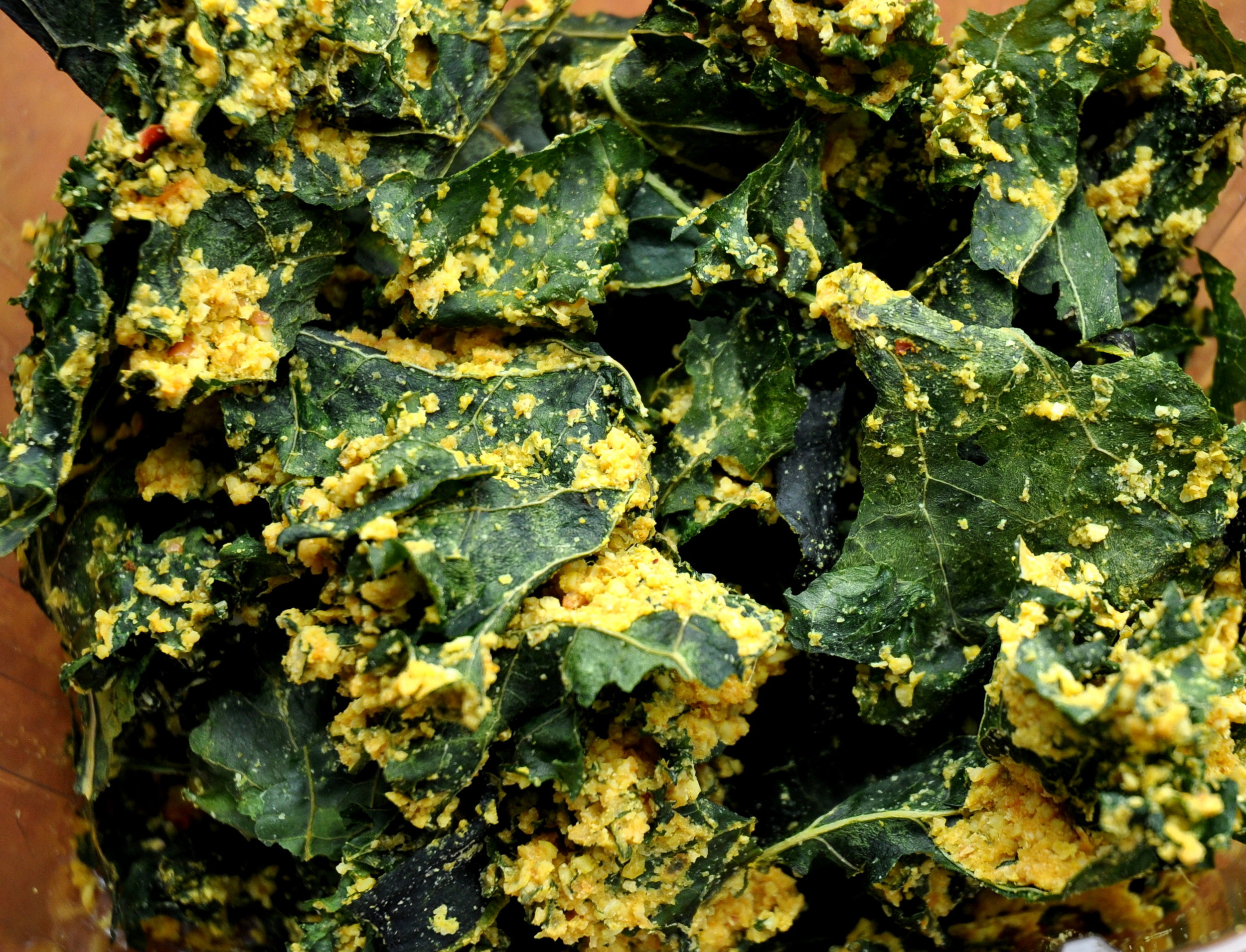 Coconut Curry Kale Chips from House of the Sun. Photo copyright 2013 by Zachary D. Lyons.
