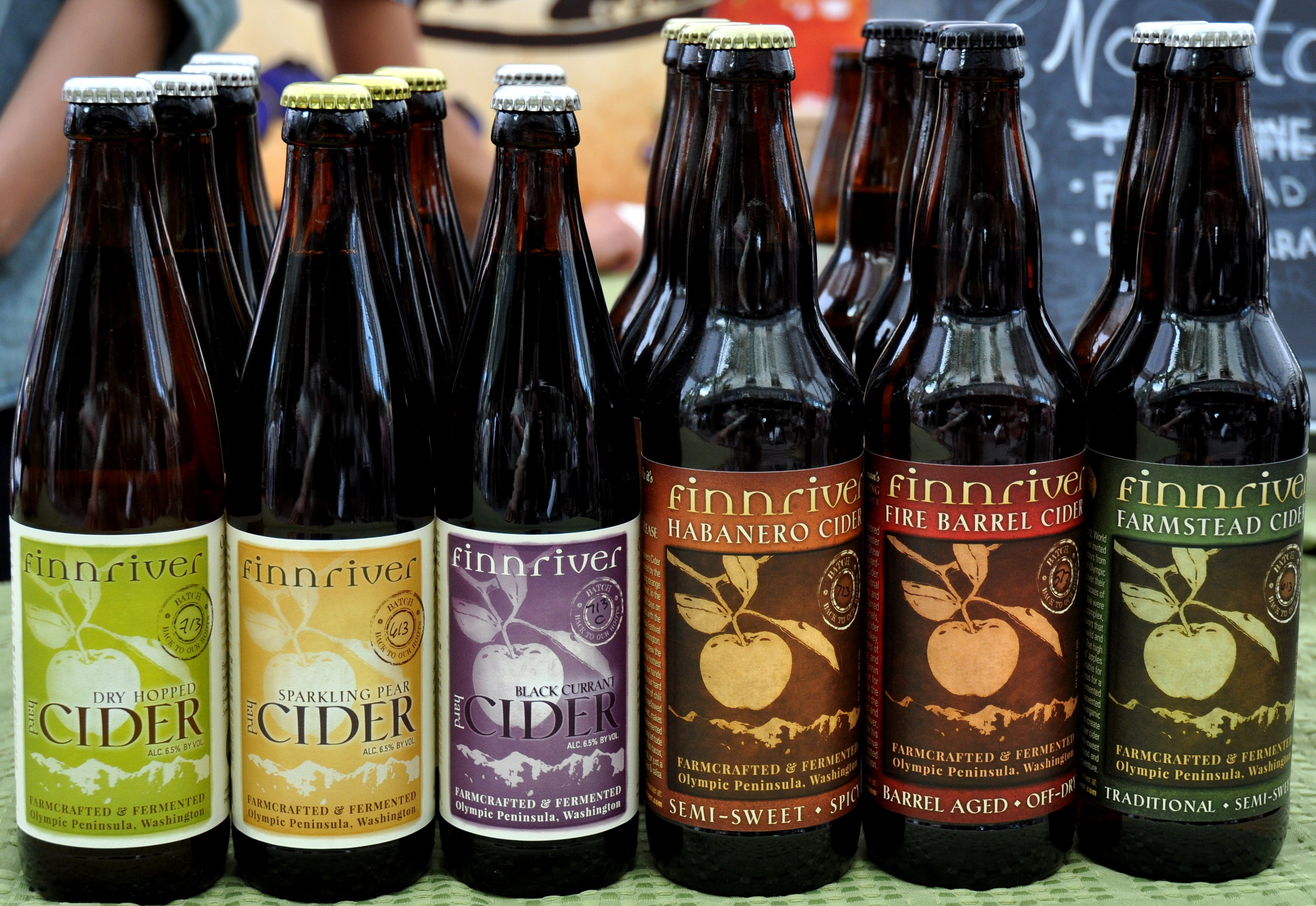 Hard ciders from Finnriver Farm & Cidery. Photo copyright 2013 by Zachary D. Lyons.
