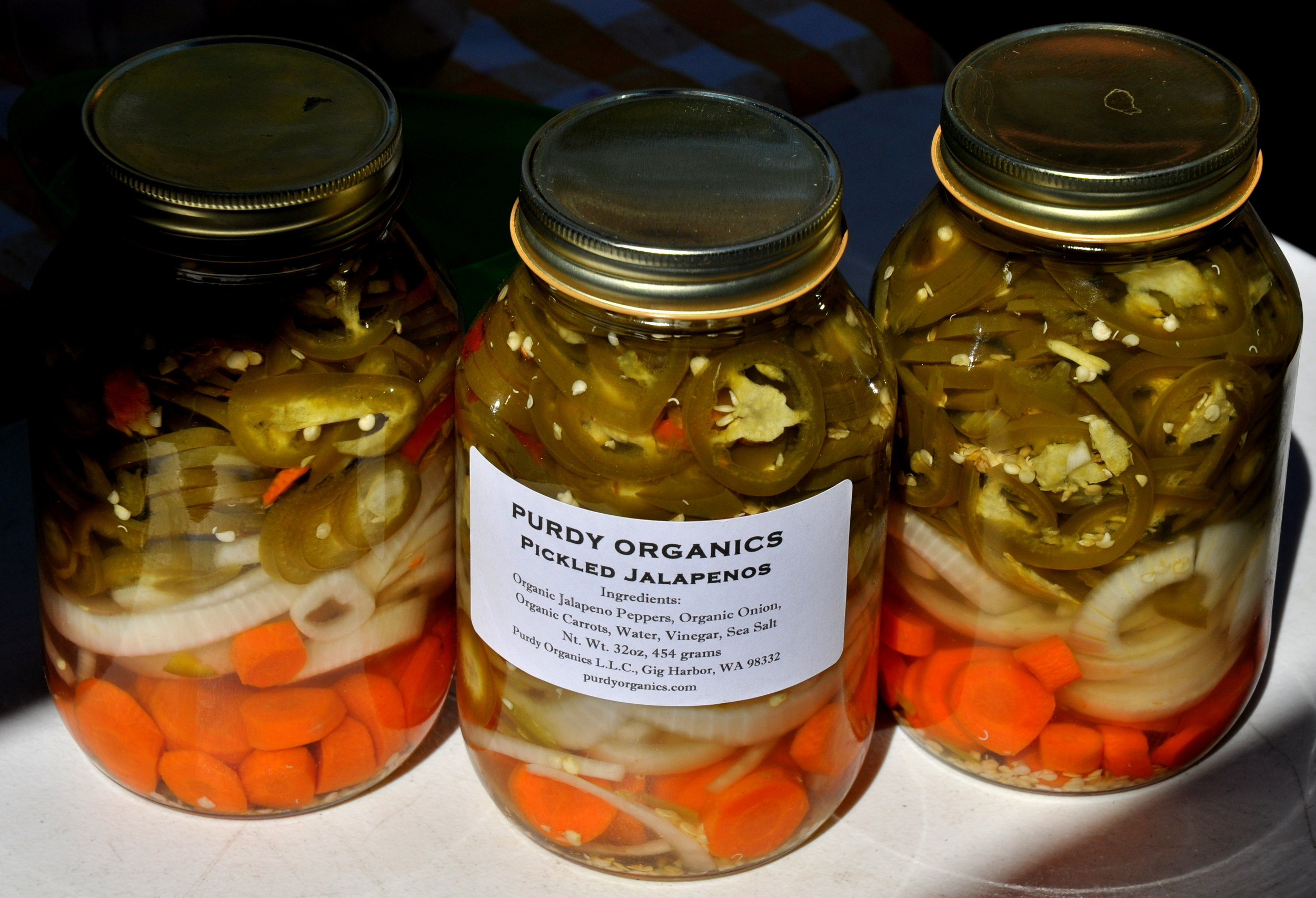 Pickled jalapeños peppers from Purdy Pickle. Photo copyright 2013 by Zachary D. Lyons.