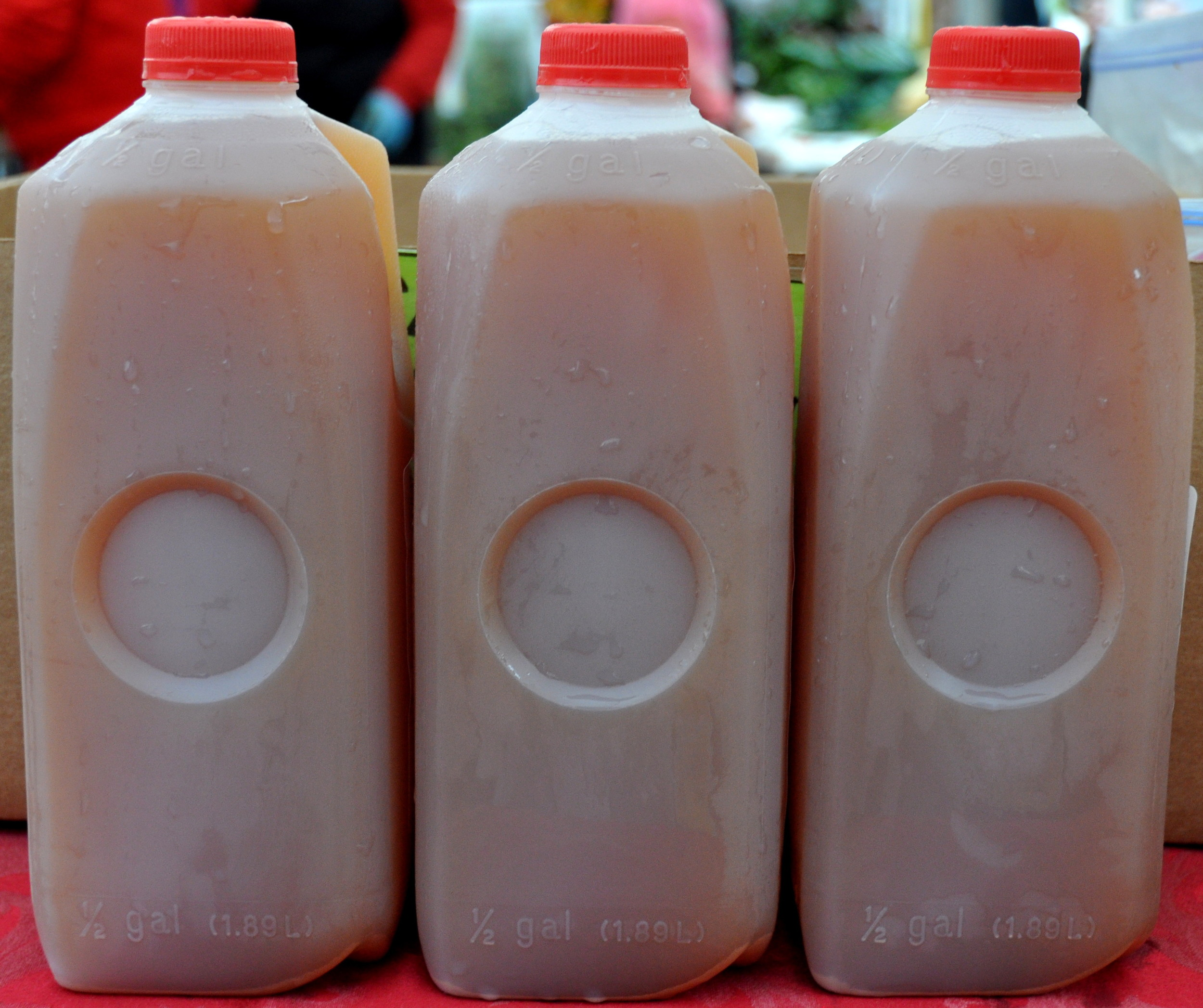Fresh apple cider from Jerzy Boyz.  Photo copyright 2013 by Zachary D. Lyons.