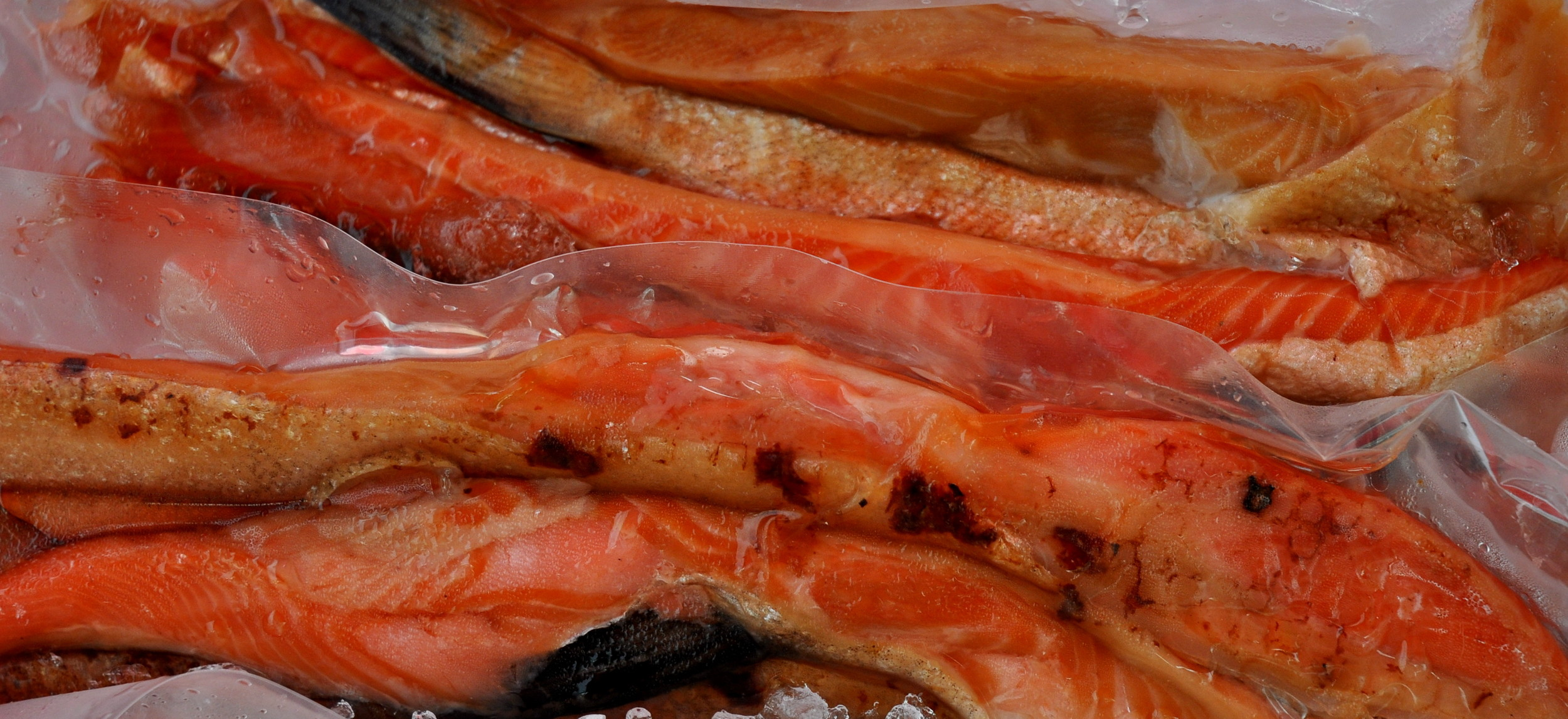 Smoked king salmon bellies from Loki Fish. Photo copyright 2013 by Zachary D. Lyons.