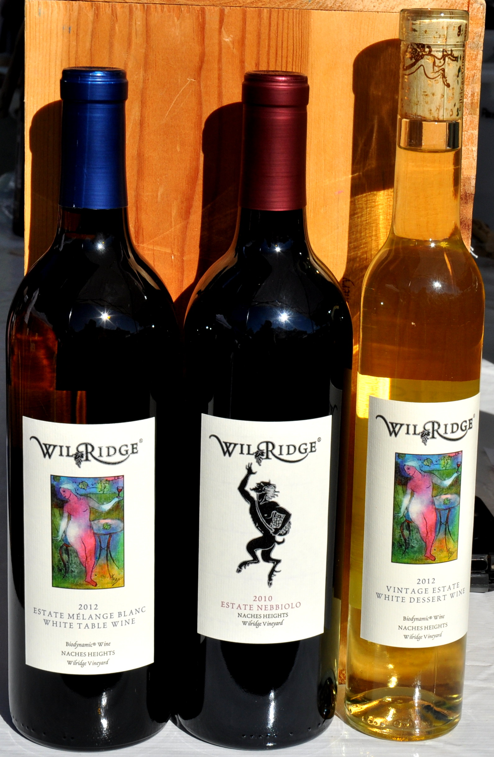 These organic estate wines come from Wilridge Winery in Madrona. Photo copyright 2013 by Zachary D. Lyons.