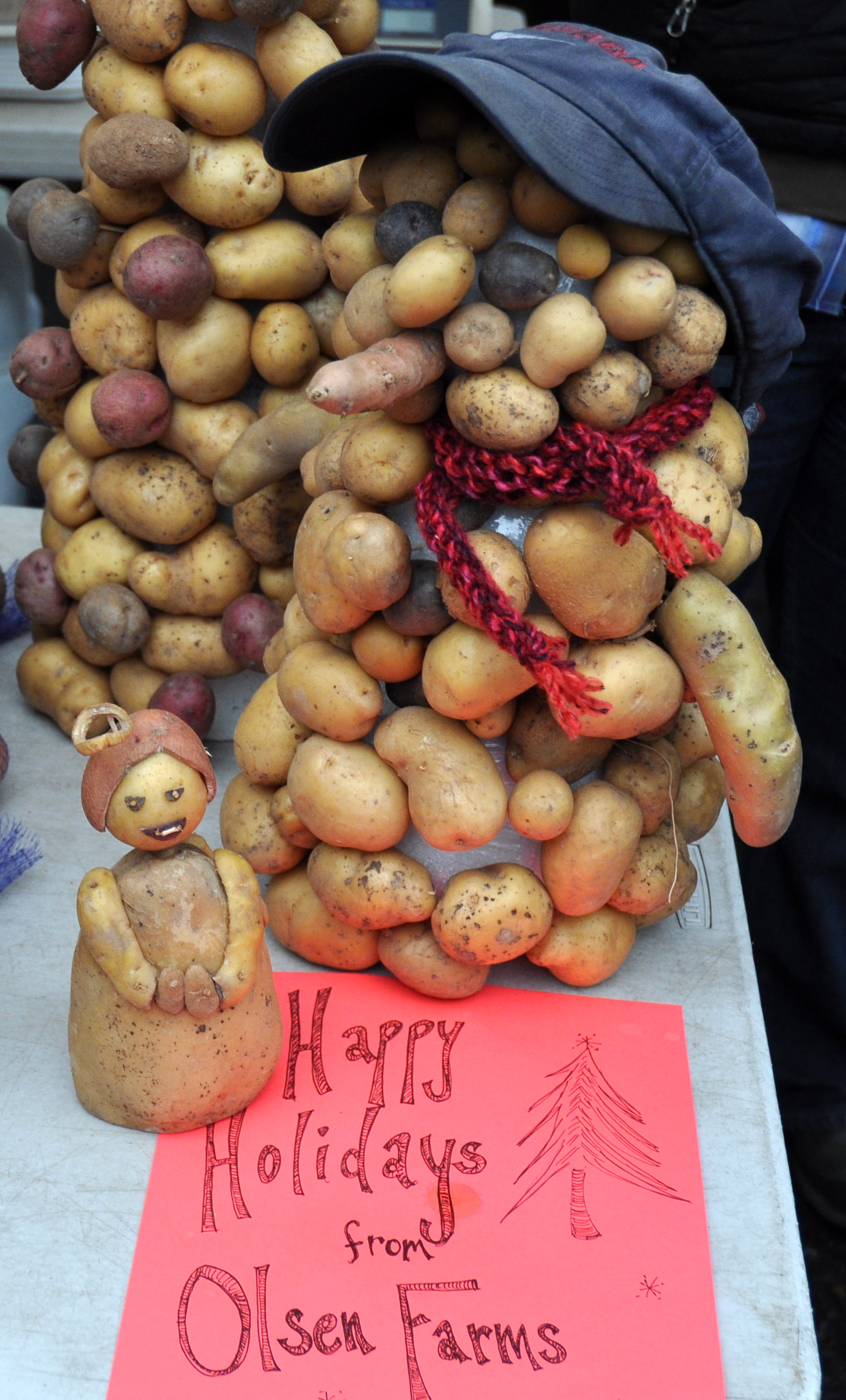Holiday decoration made from potatoes at Olsen Farms. Photo copyright 2013 by Zachary D. Lyons.