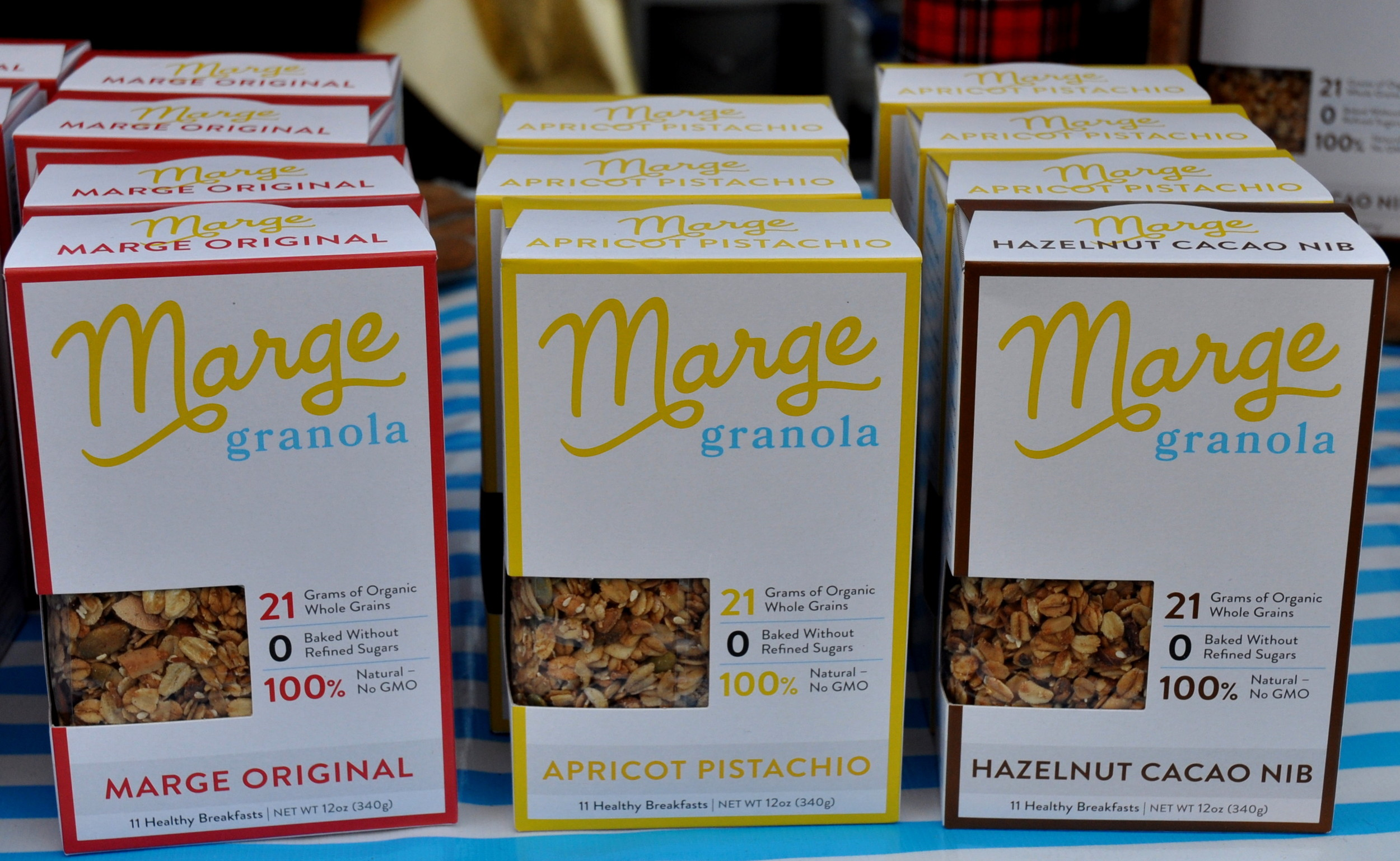 Local granola from Marge Granola at Ballard Farmers Market. Copyright Zachary D. Lyons.