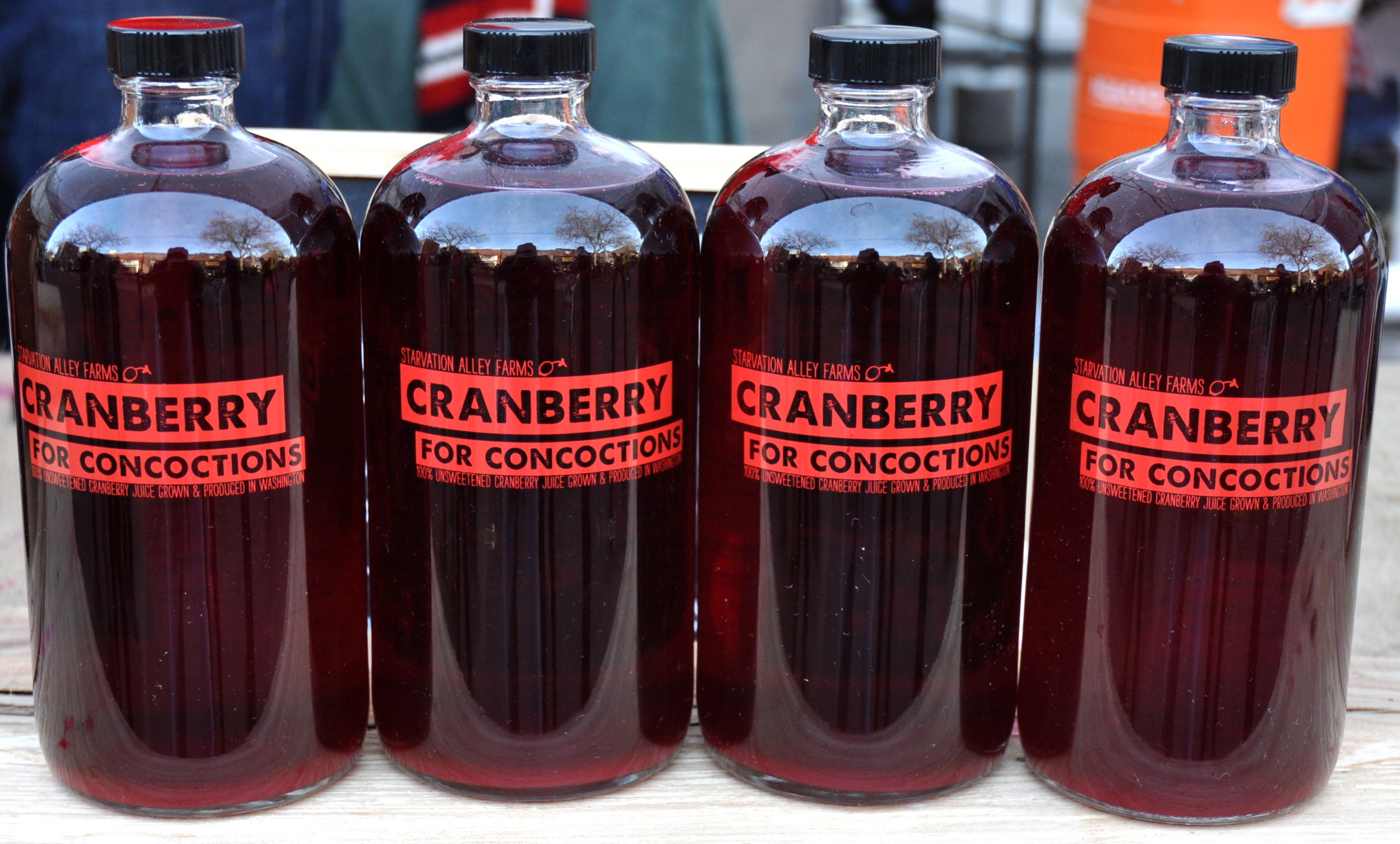 Organic cranberry juice from Starvation Alley Farms. Photo copyright 2014 by Zachary D. Lyons.