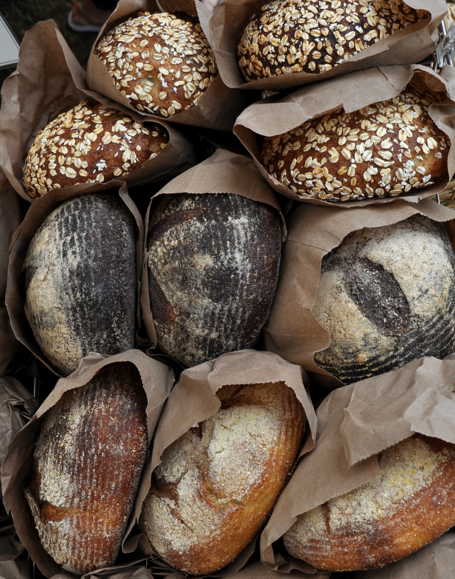 Artisan breads from Tall Grass Bakery at Ballard Farmers Market. Copyright Zachary D. Lyons.